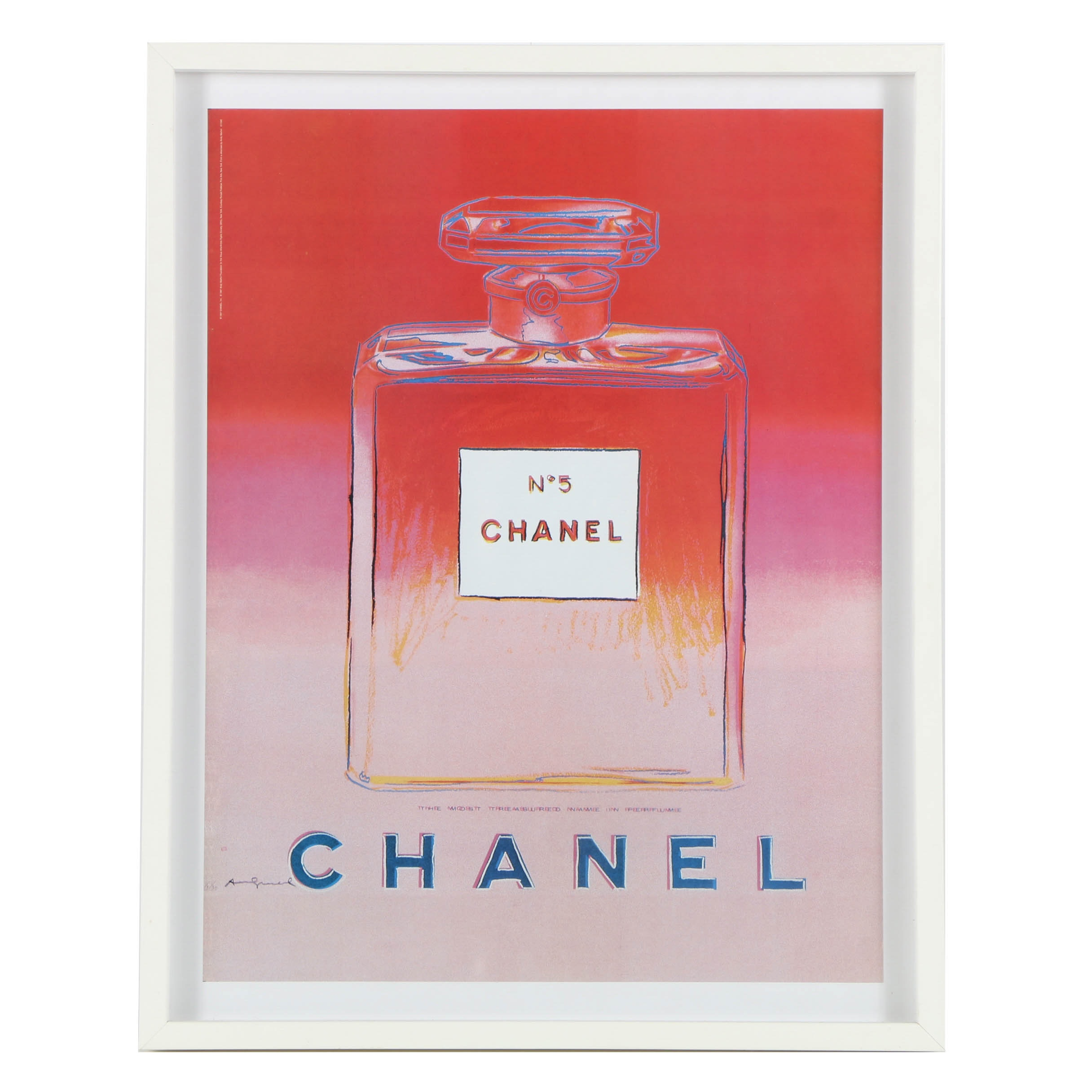 "Offset Lithograph on Paper After Andy Warhol's ""Chanel No. 5 Red/ Pink"""
