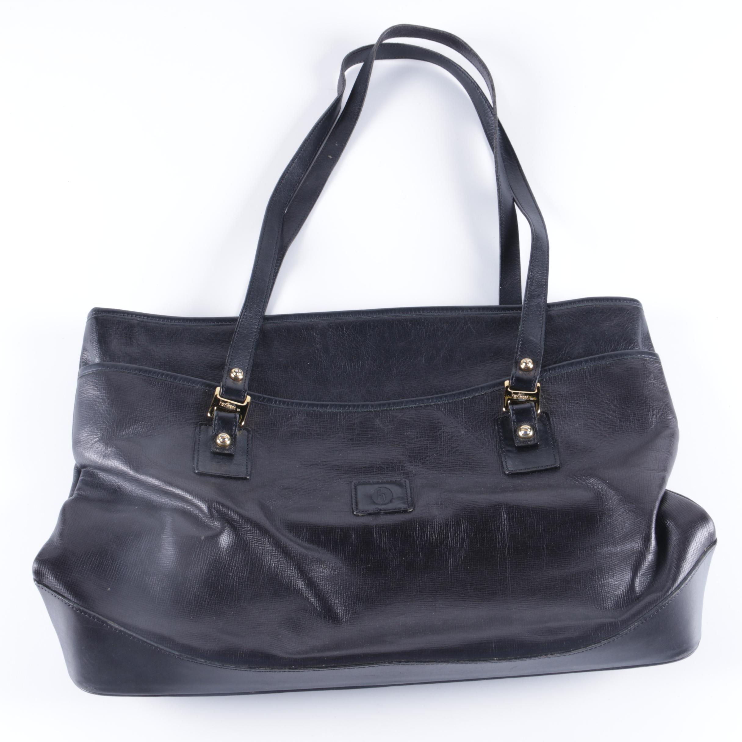 Vintage Hartmann Navy Leather Handbag