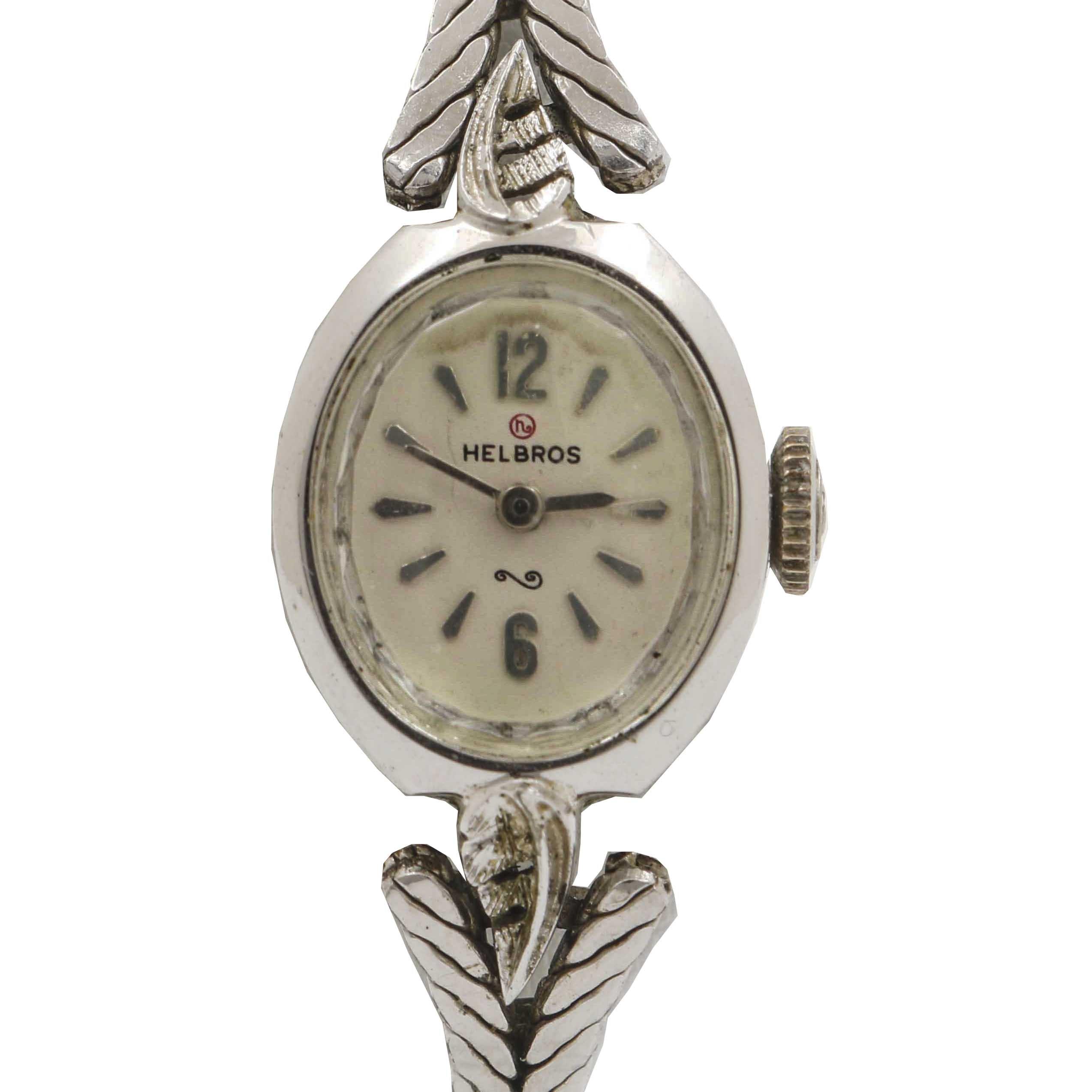 Helbros Silver Tone Delicate Wristwatch