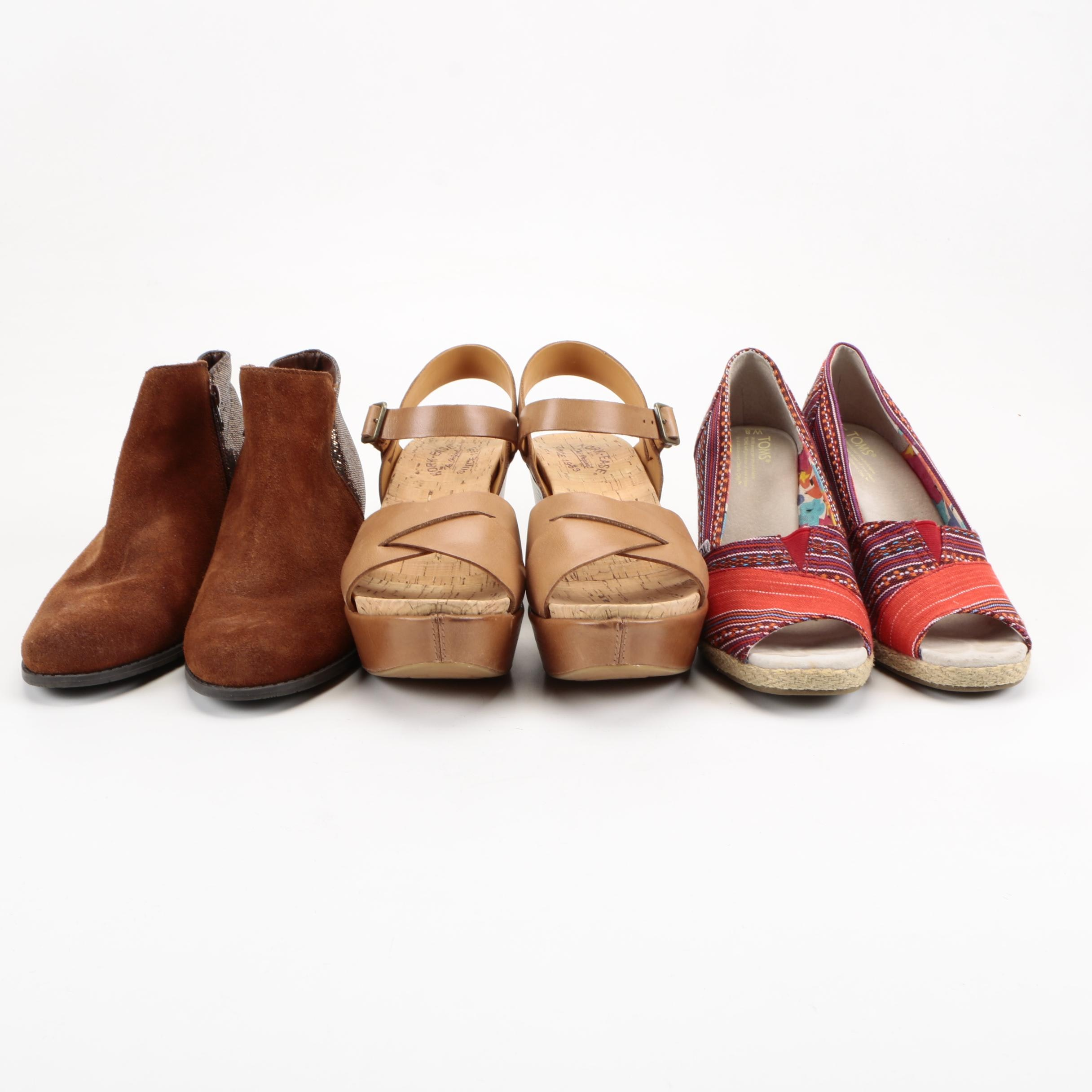 Women's Shoes Including Toms and Kork-Ease