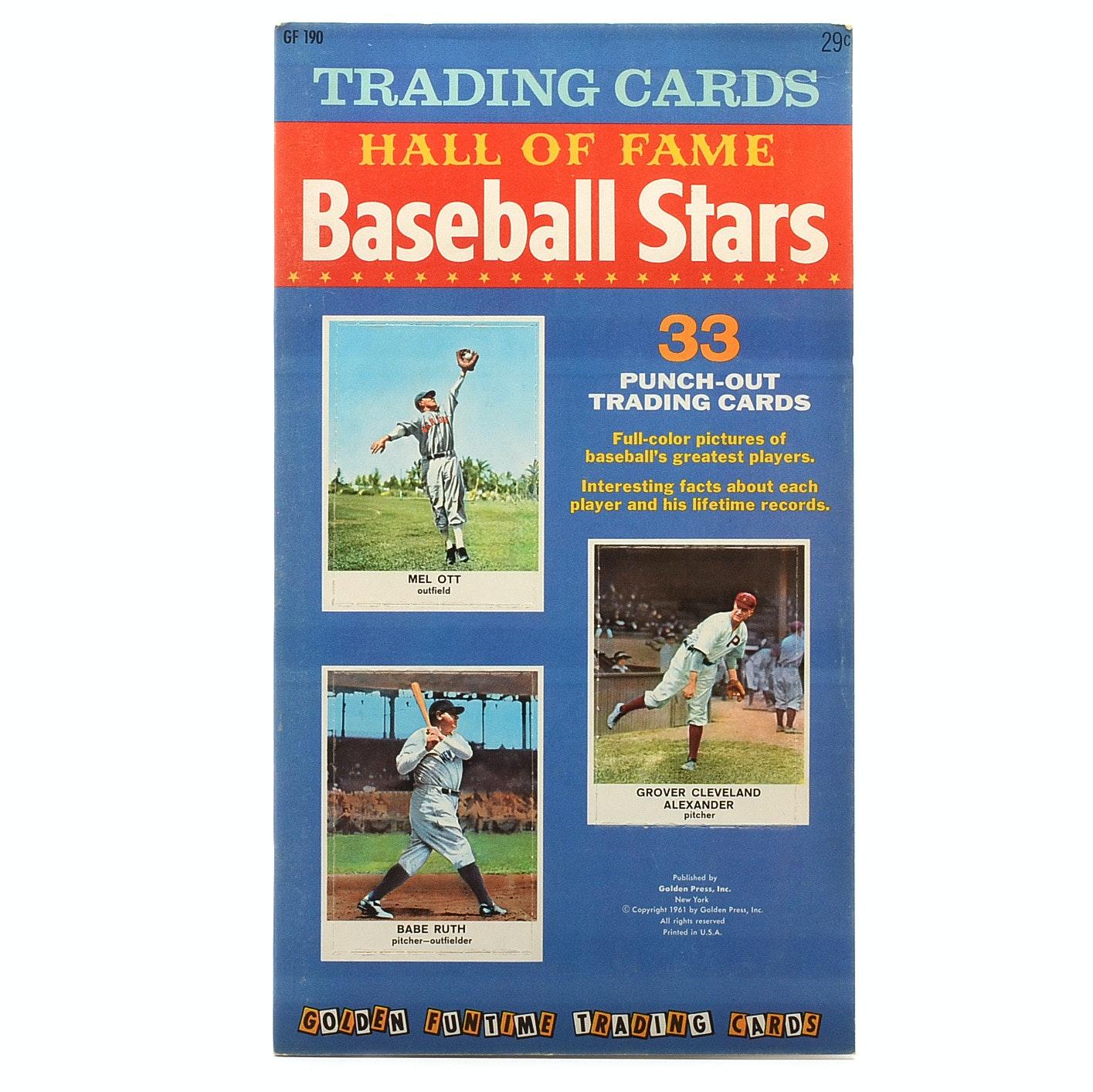 """Complete Set 1961 Golden Press """"Hall Of Fame"""" Baseball Cards In Booklet"""