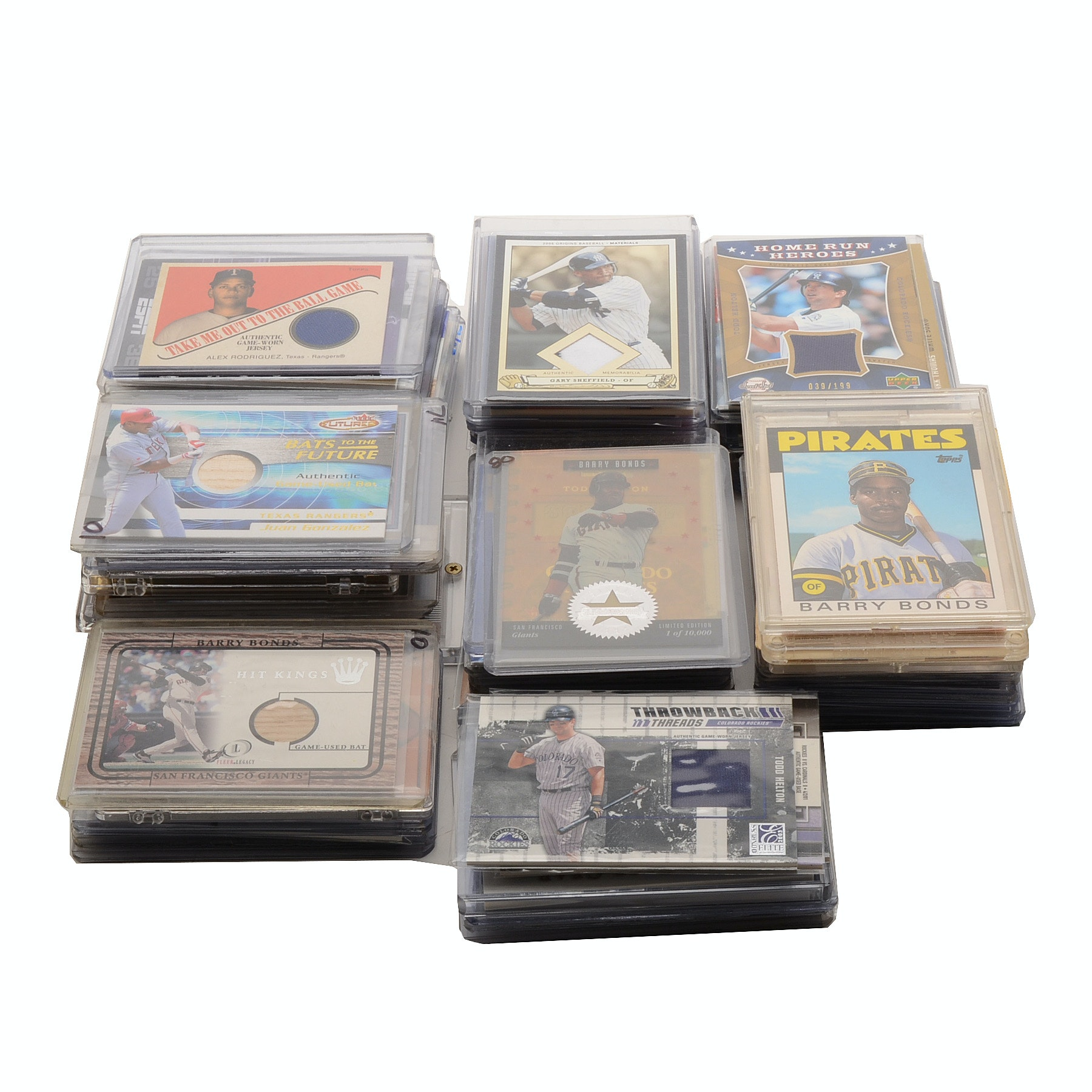 Large Collection Of Jersey/Bat Relic Cards