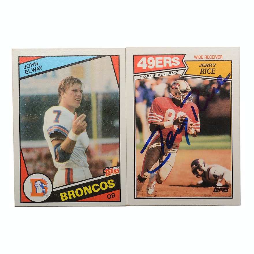 a41a8ba80 John Elway Rookie Card and Jerry Rice Signed Card   EBTH