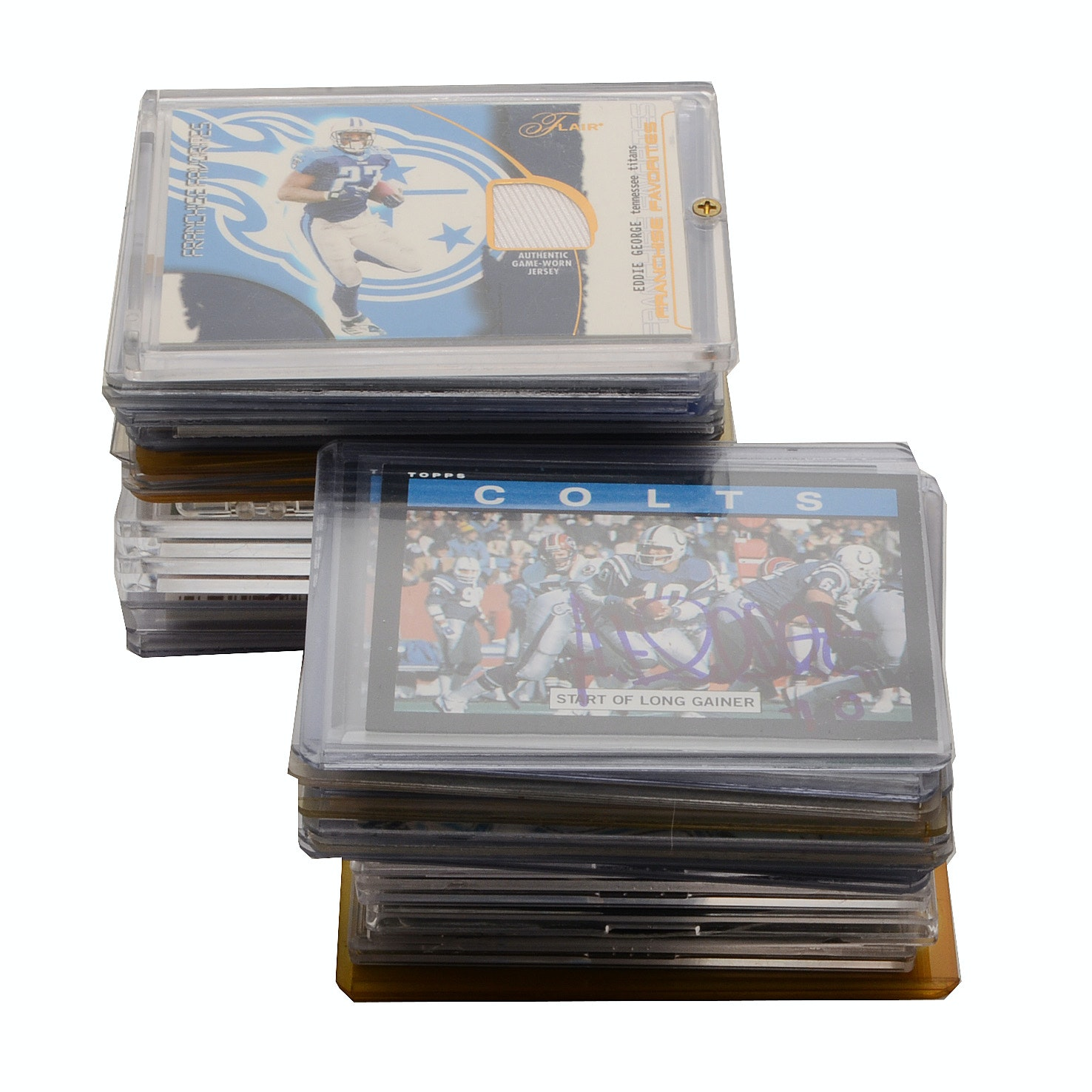 MIx of Signed and Relic Football Cards