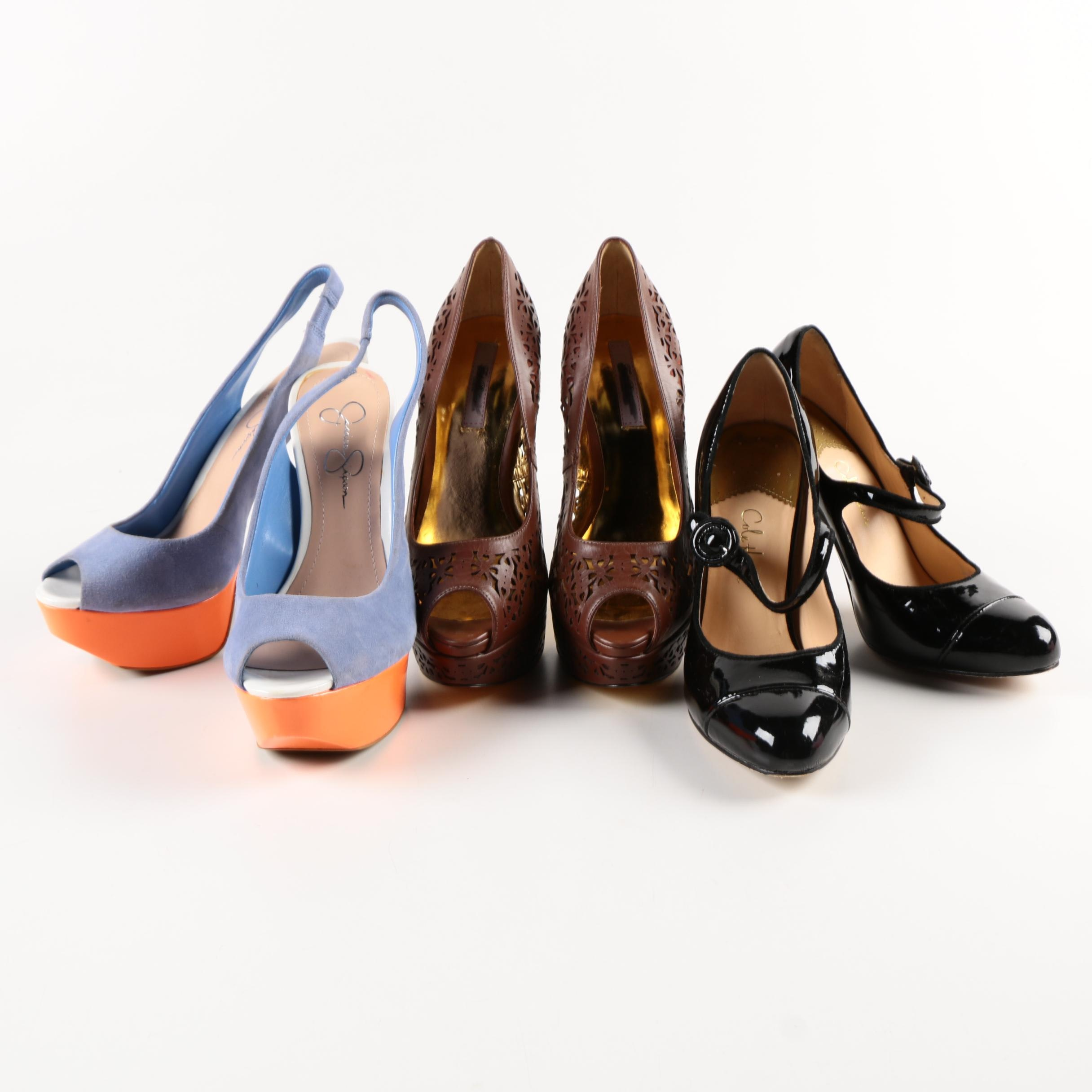 Three Pairs of Heels Including Jessica Simpson