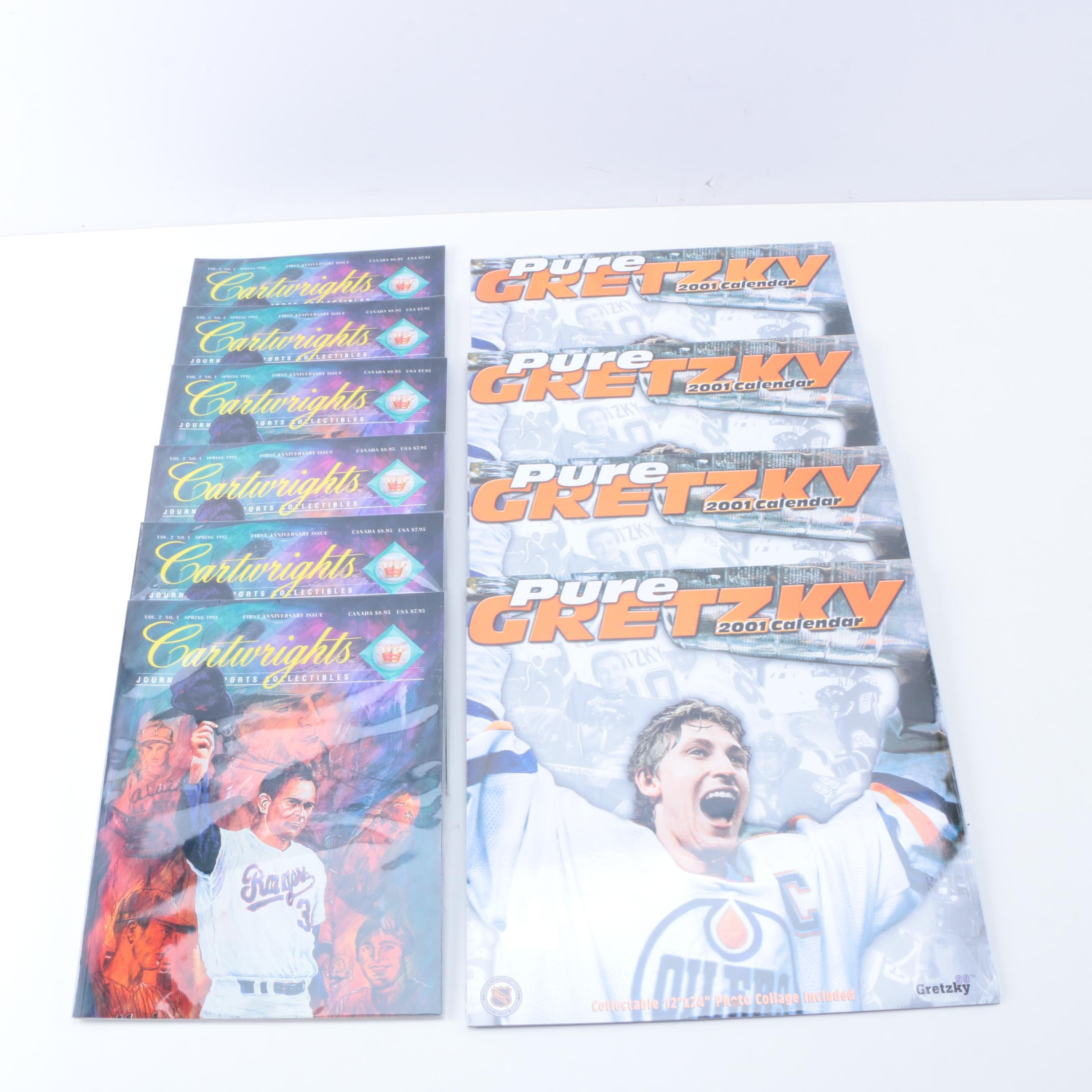 Sports Collectibles Guidebooks with Gretzky Calendars