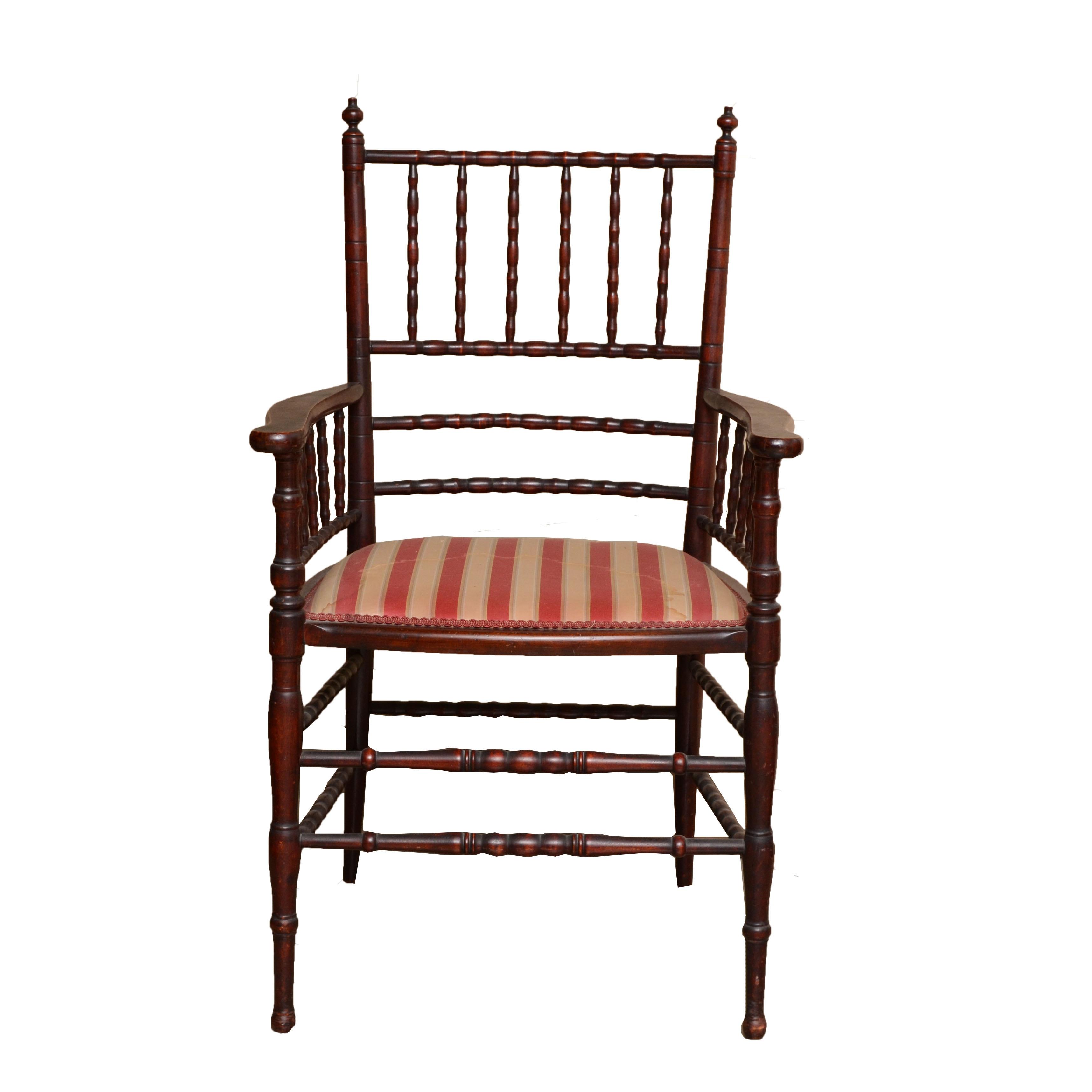 Early 20th Century Lady's Mahogany Armchair