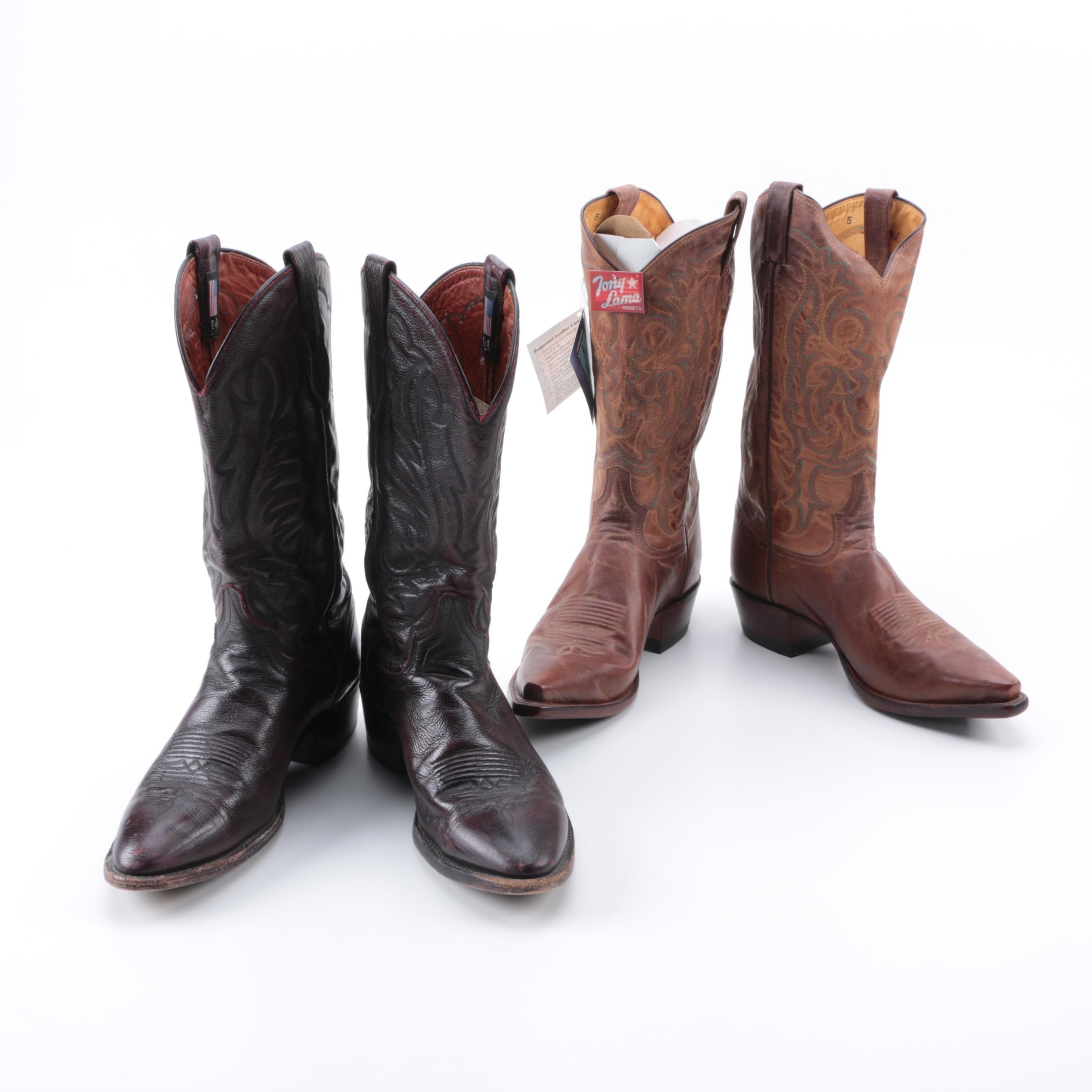 Cowboy Boots Including Tony Lama