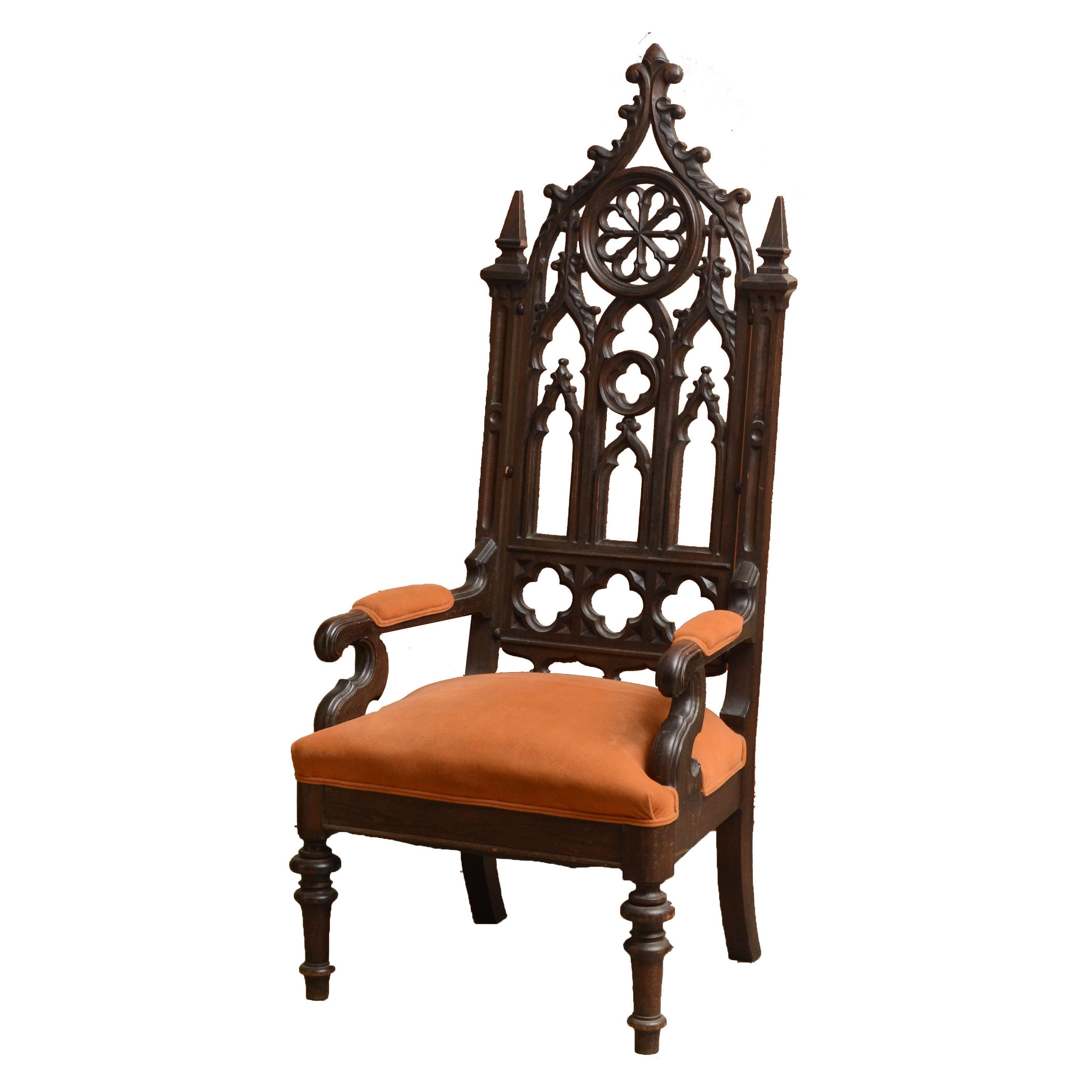 19th Century Gothic Revival Arm Chair