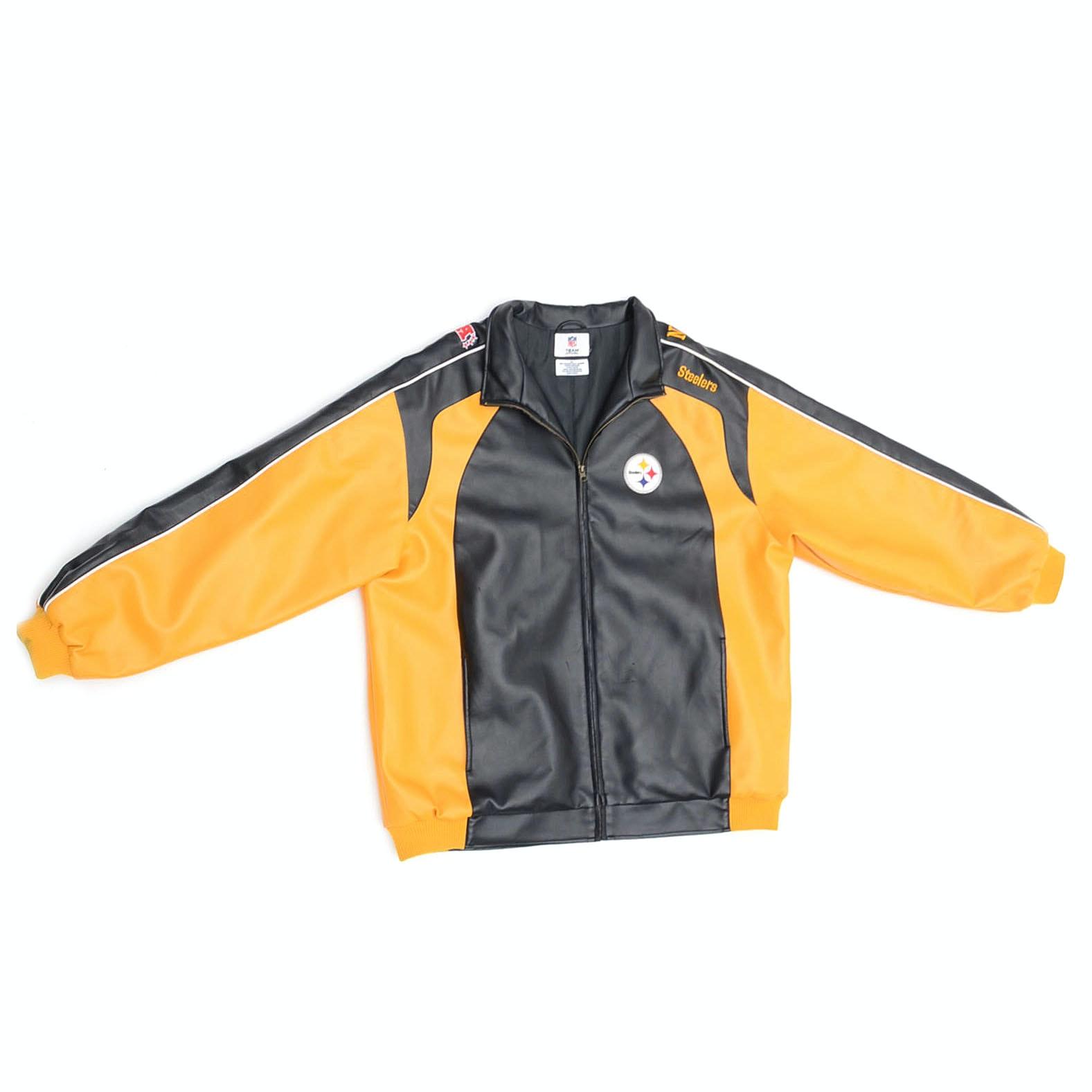 NFL Pittsburgh Steelers Leather Football Jacket