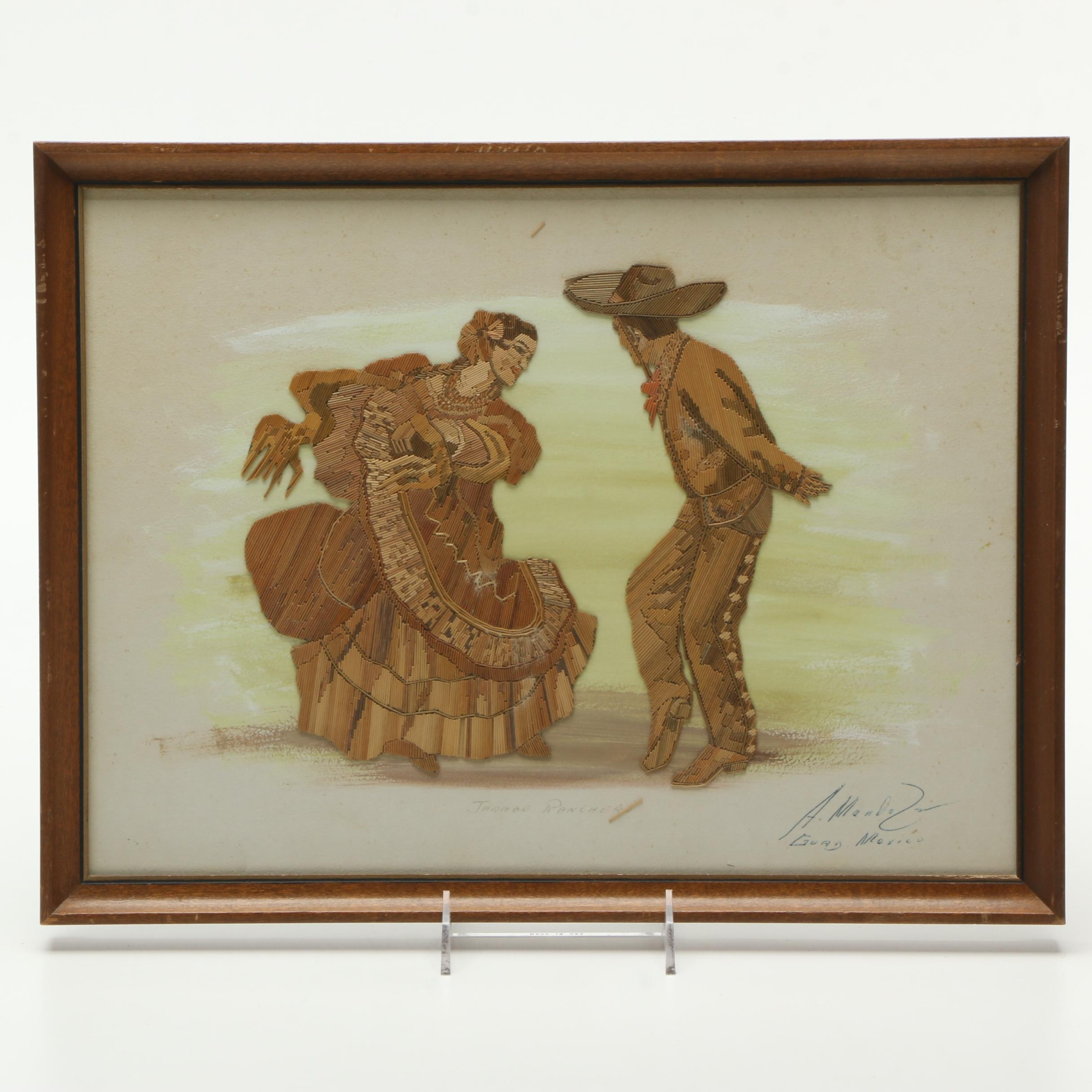 "Framed Mixed Media ""Jarabe Ranchero"""