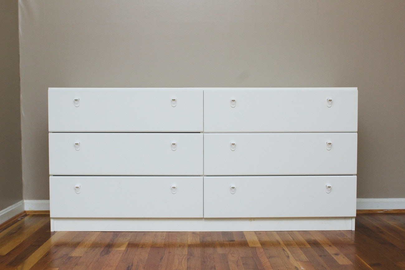Contemporary White Chest of Drawers