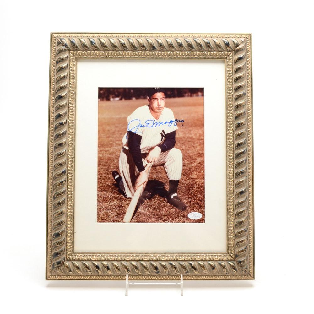 Yankees Great Joe DiMaggio Signed Framed Photo
