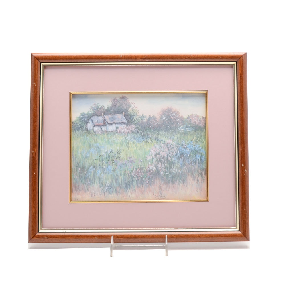 Mary Bertrand Limited Edition Matted and Framed Lithograph