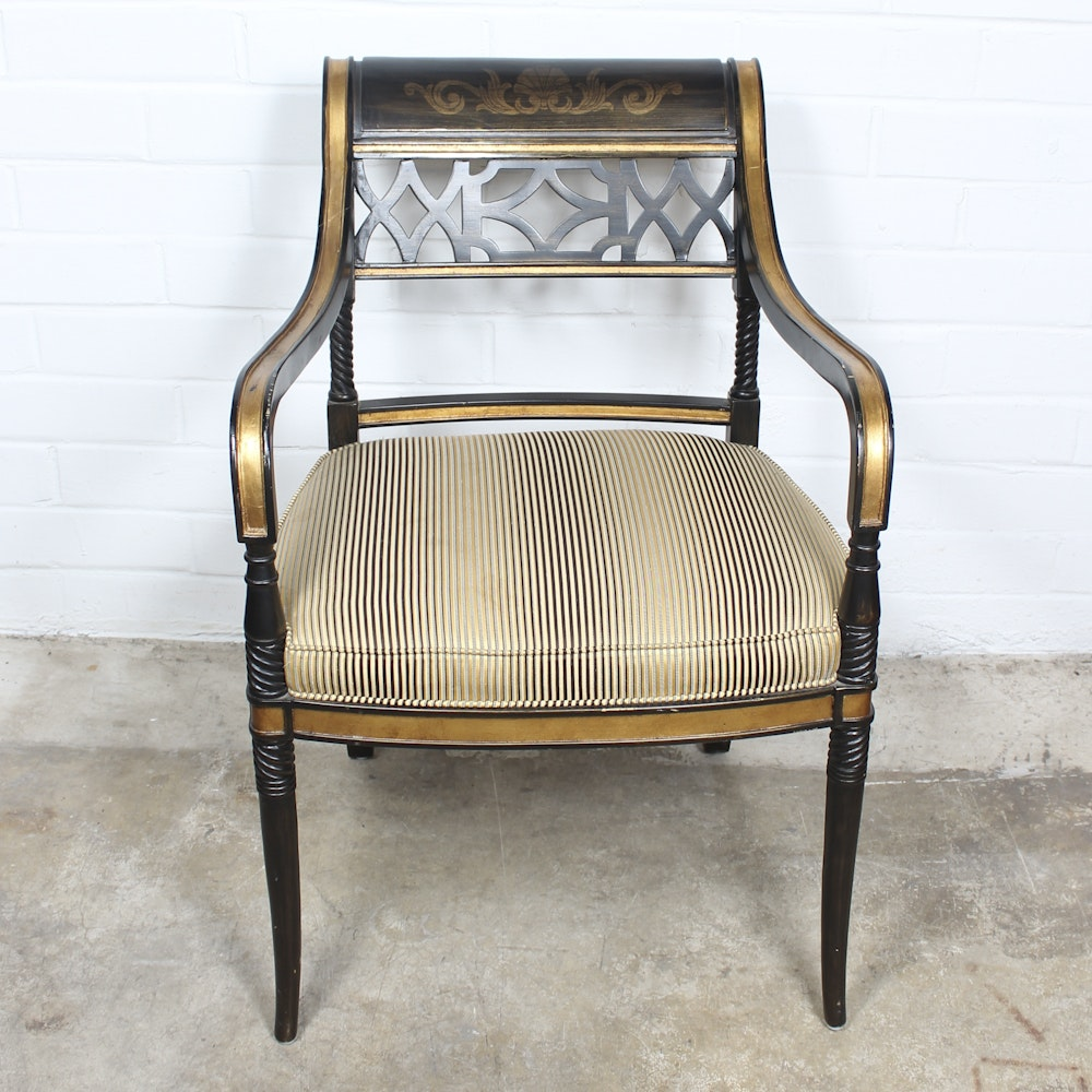 Hollywood Regency Style Arm Chair