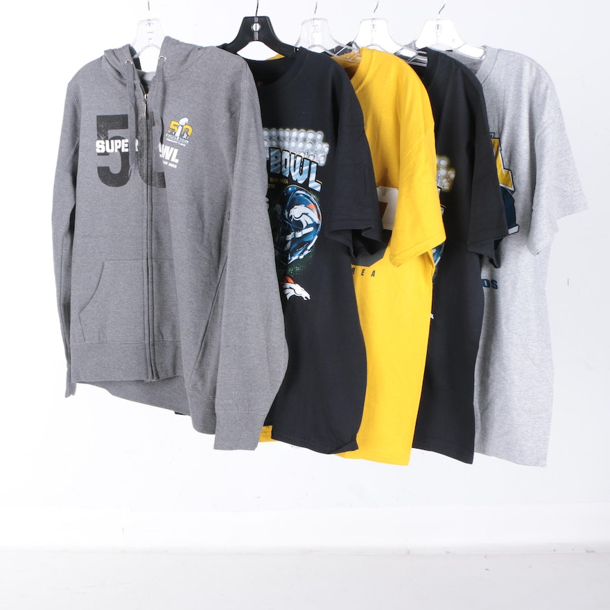 77726b56f NFL Super Bowl 50 Hoodie and T-Shirts   EBTH