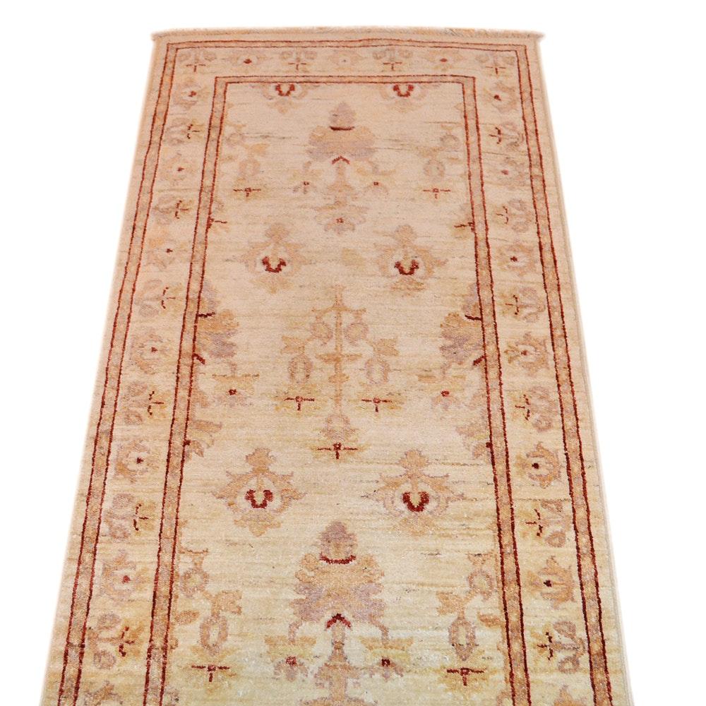 Hand-Knotted Peshawar Carpet Runner