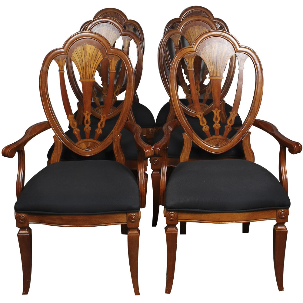Six Hepplewhite Style Dining Chairs