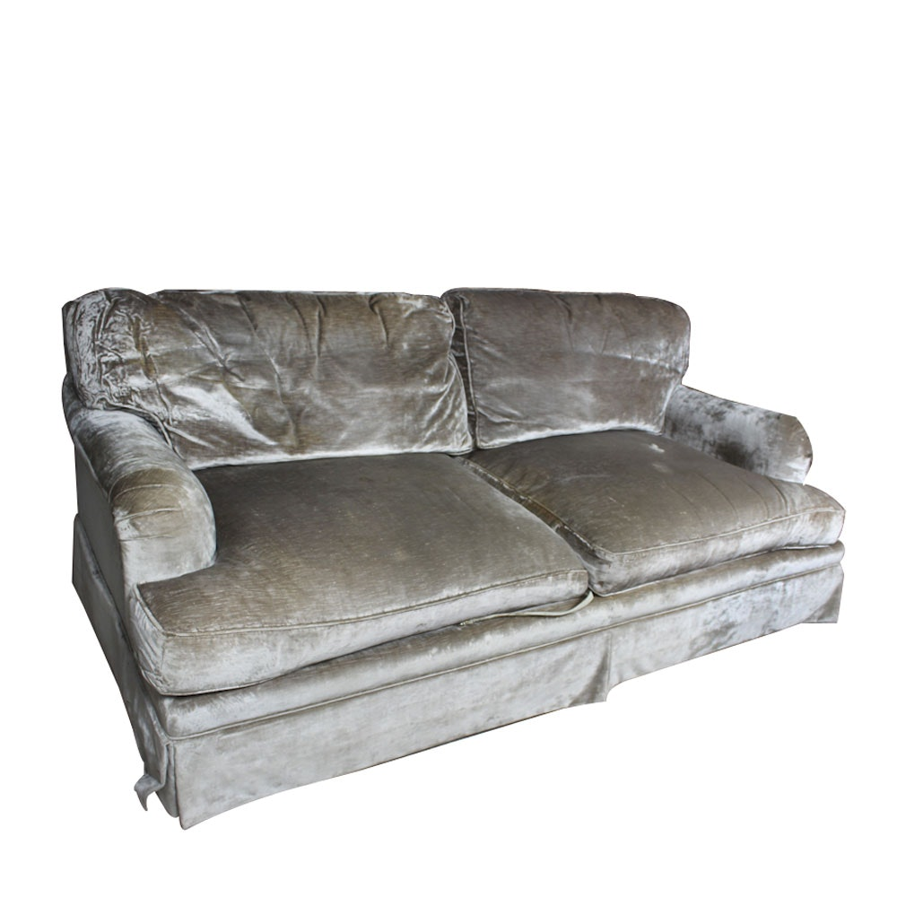 Velour Style Sofa by Baker Furniture