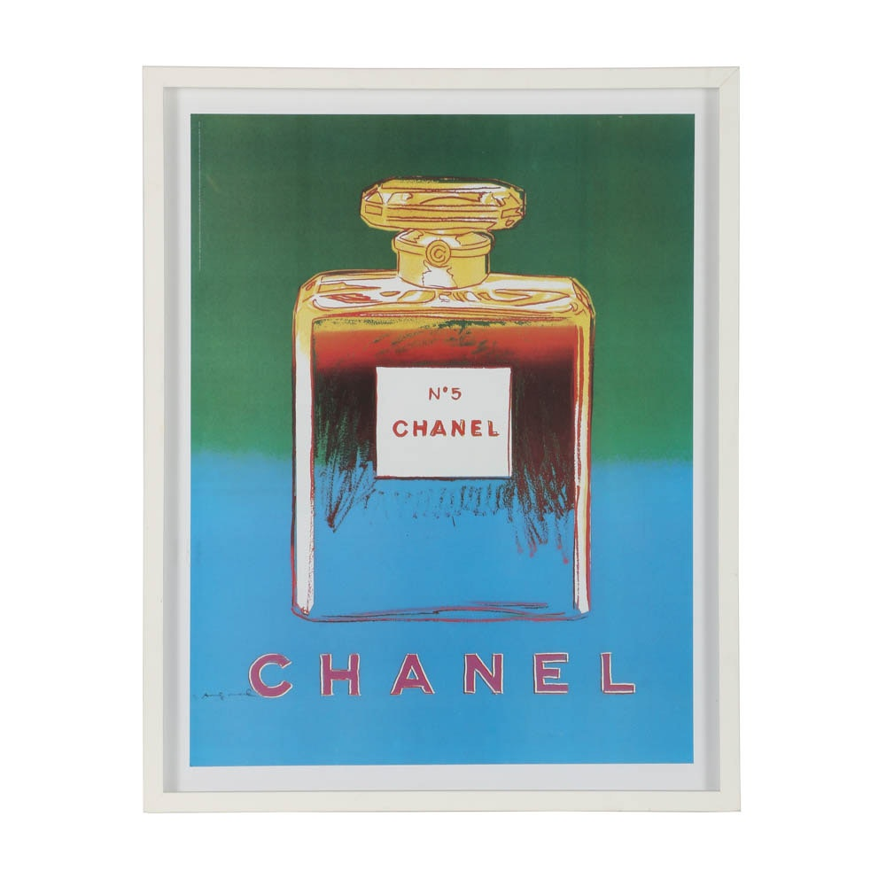 "Offset Lithograph after Andy Warhol's ""Chanel No. 5"""