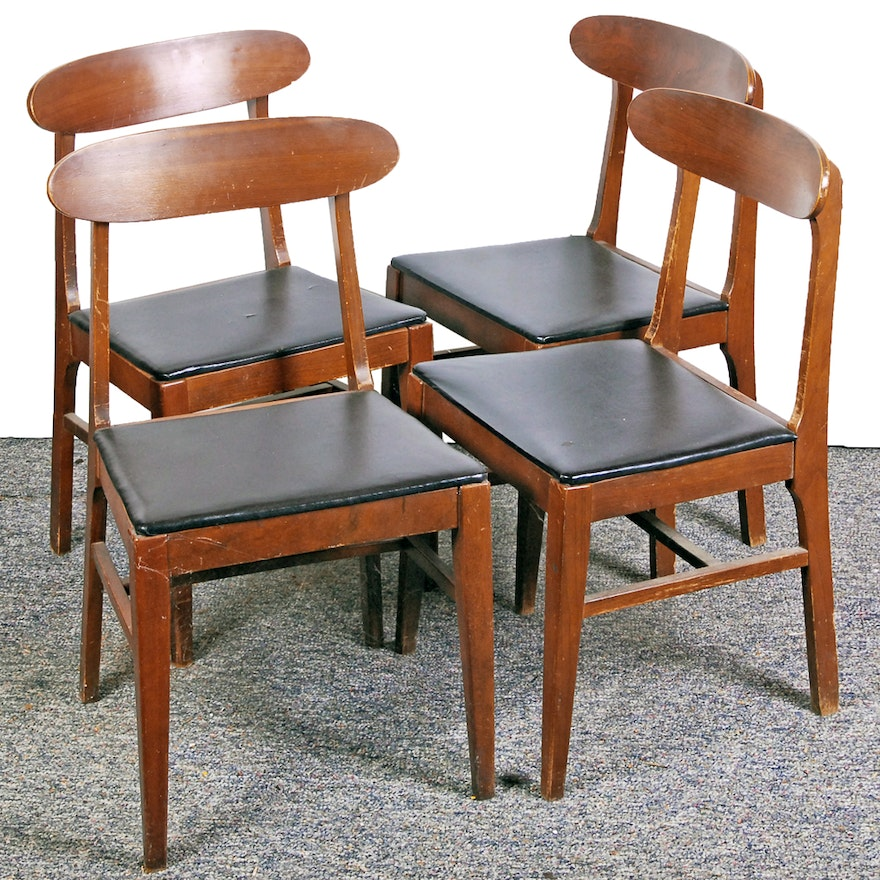 Set Of Vintage Mid Century Modern Dining Chairs By The Liberty Chair Company