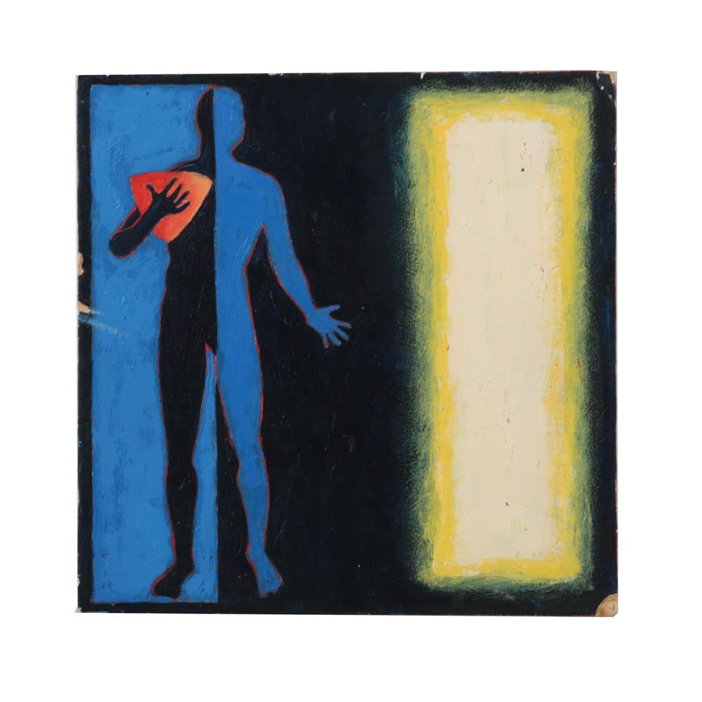 """Oil Painting on Board """"Tithonus"""""""