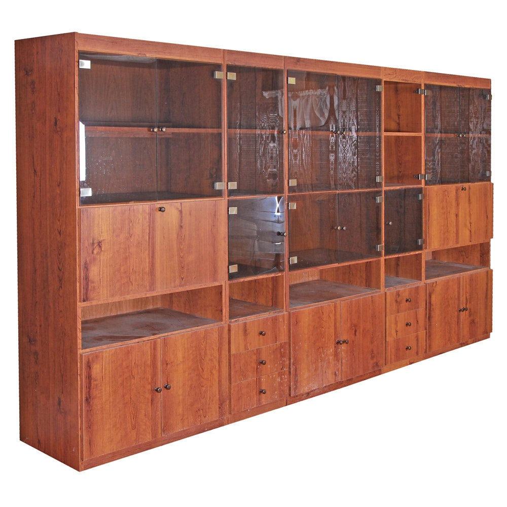 Modern Laminate Five Part Cabinet