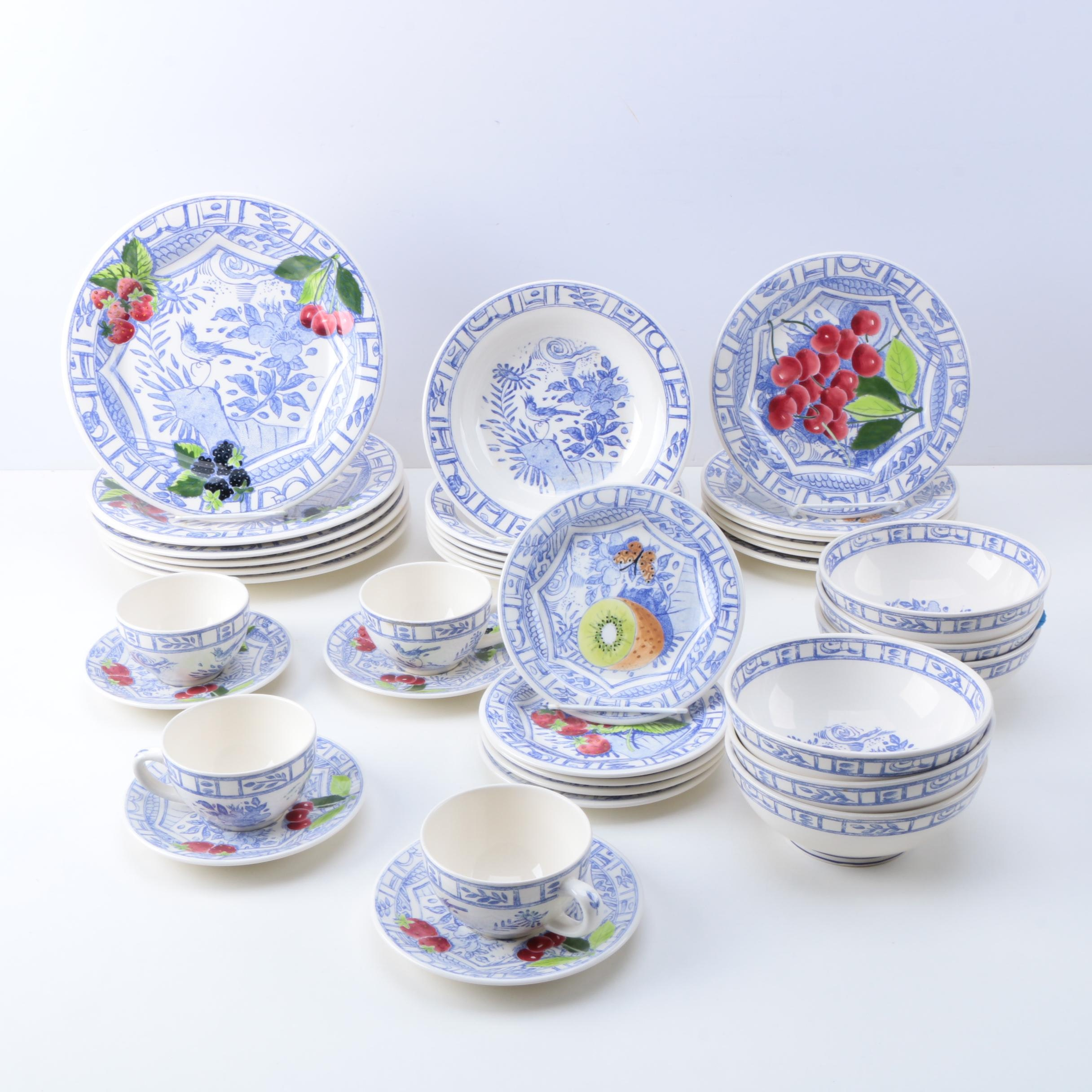 Gien China  Oiseau Bleu  Tableware ... & Gien China