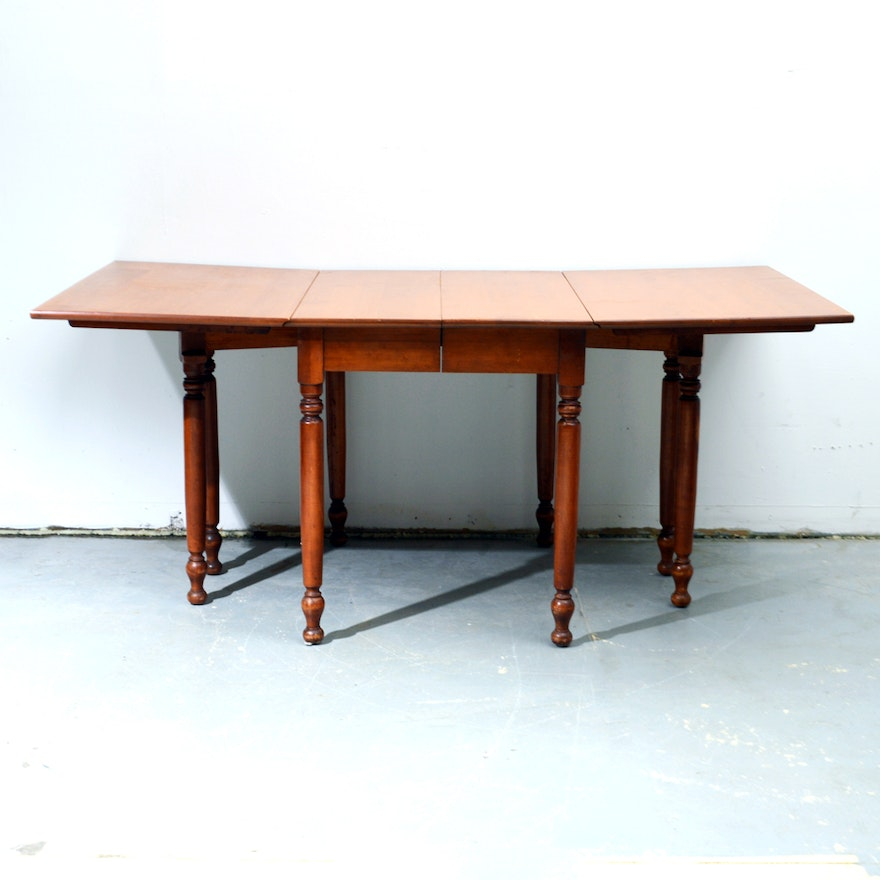 Drop leaf gateleg table with extension leaf by willett ebth for Drop leaf extension table
