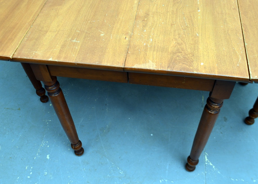 Drop leaf gateleg table with extension leaf by willett ebth for Table 6 2 ar 71 32