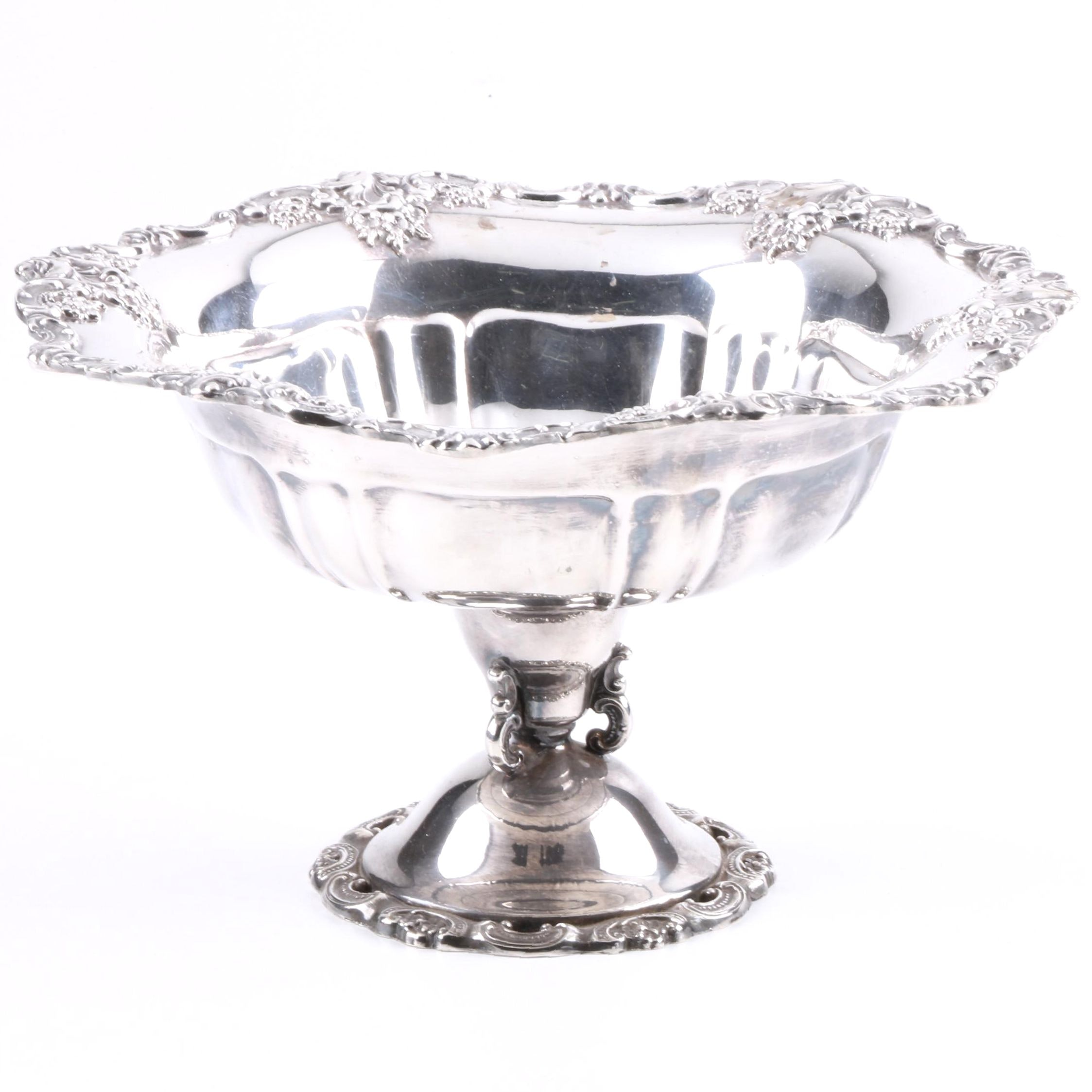 "Wallace ""Baroque"" Silver Plate Compote"