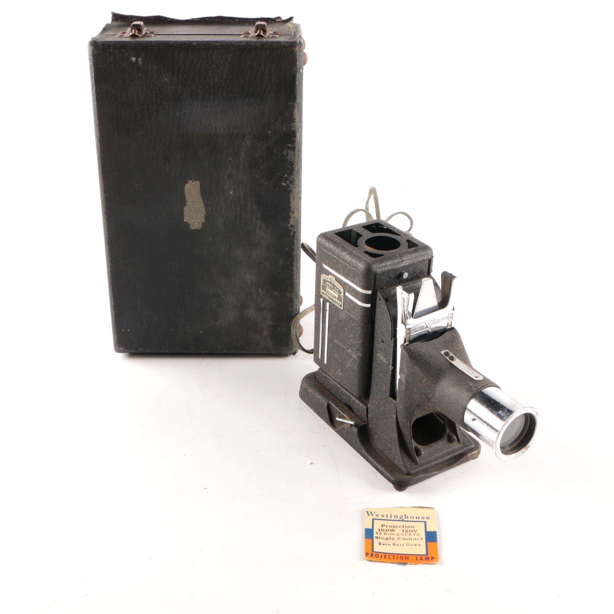 Vintage SVE Model DK Miniature Slide Projector