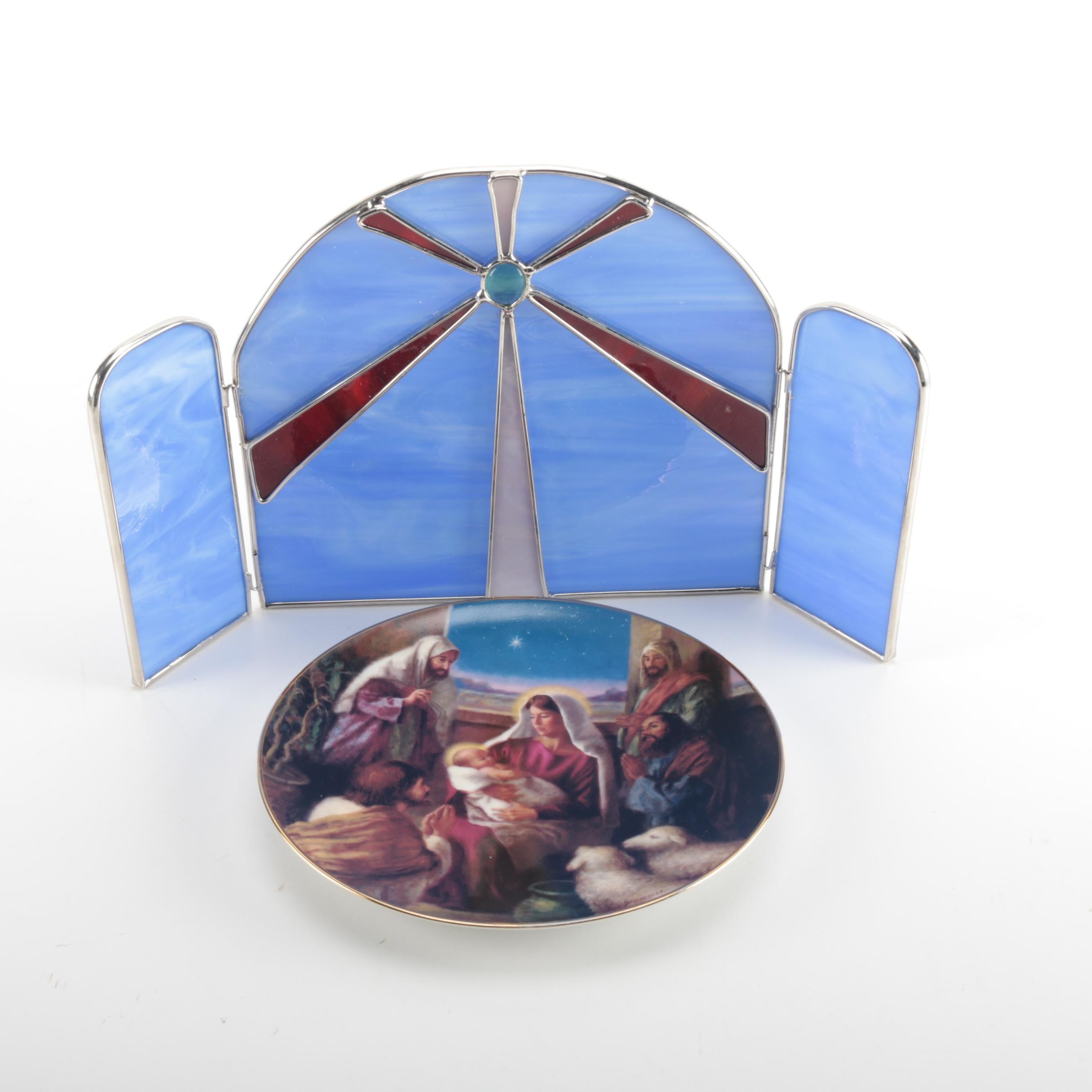 "Religious Items With Reco Limited Edition ""The Nativity"" Collectible Plate"
