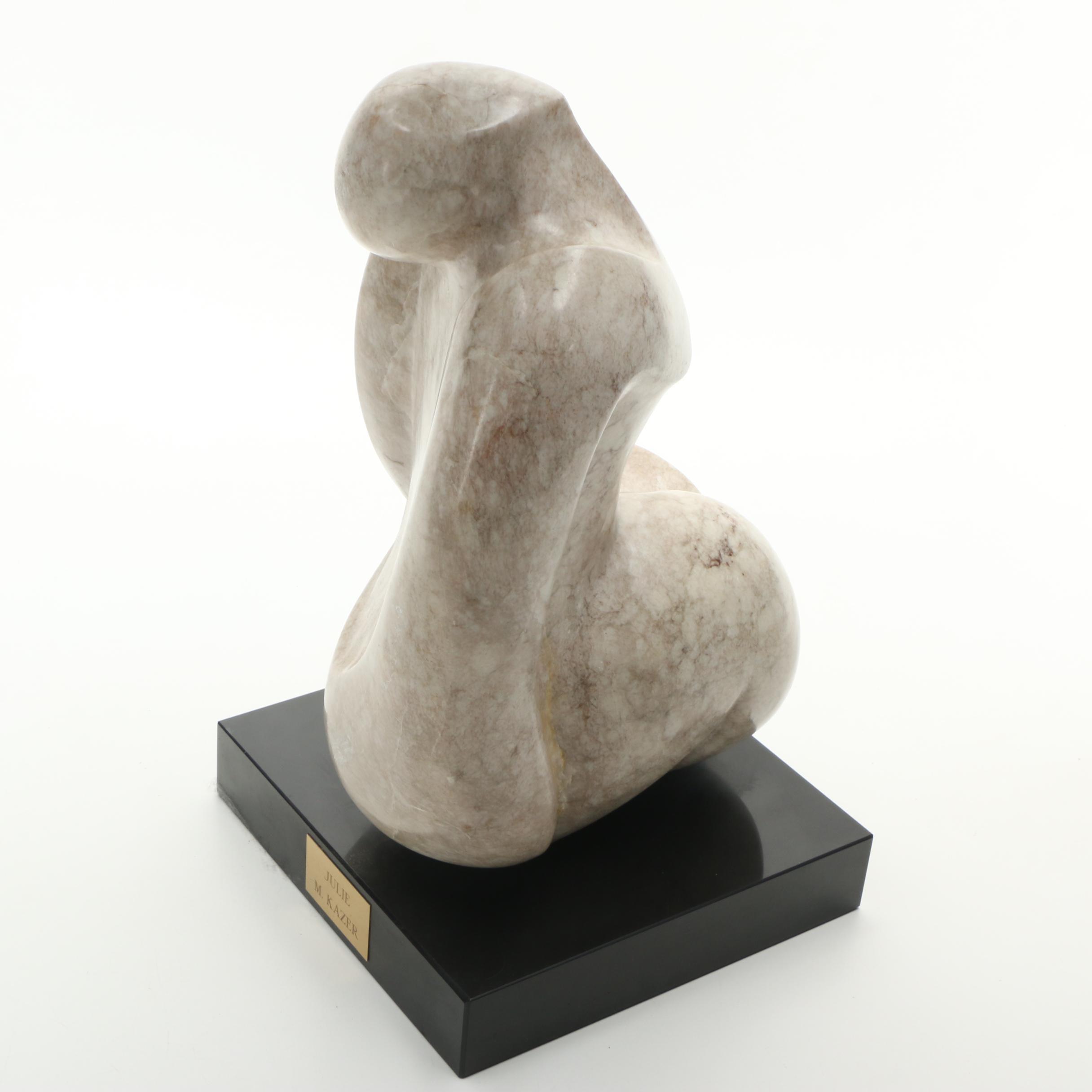 "M. Kazer Marble Sculpture ""Julie"""