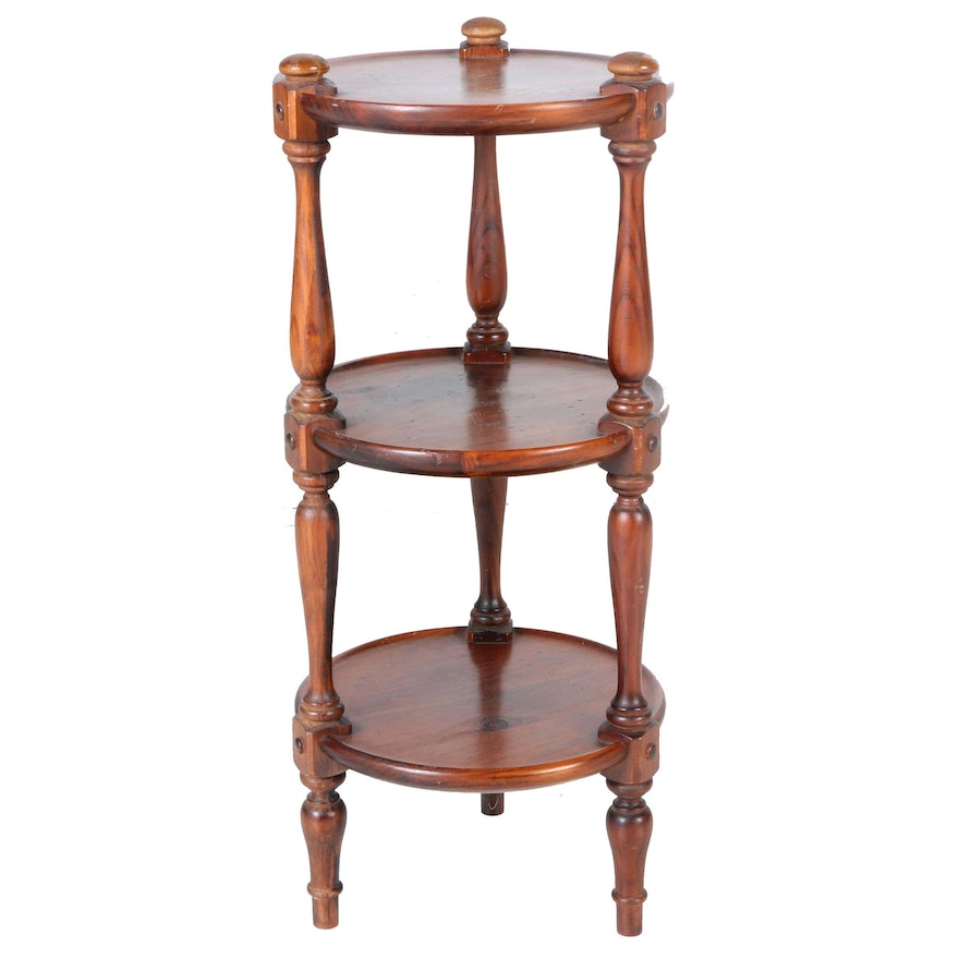 Ethan allen three tier accent table ebth for 12 x 12 accent table