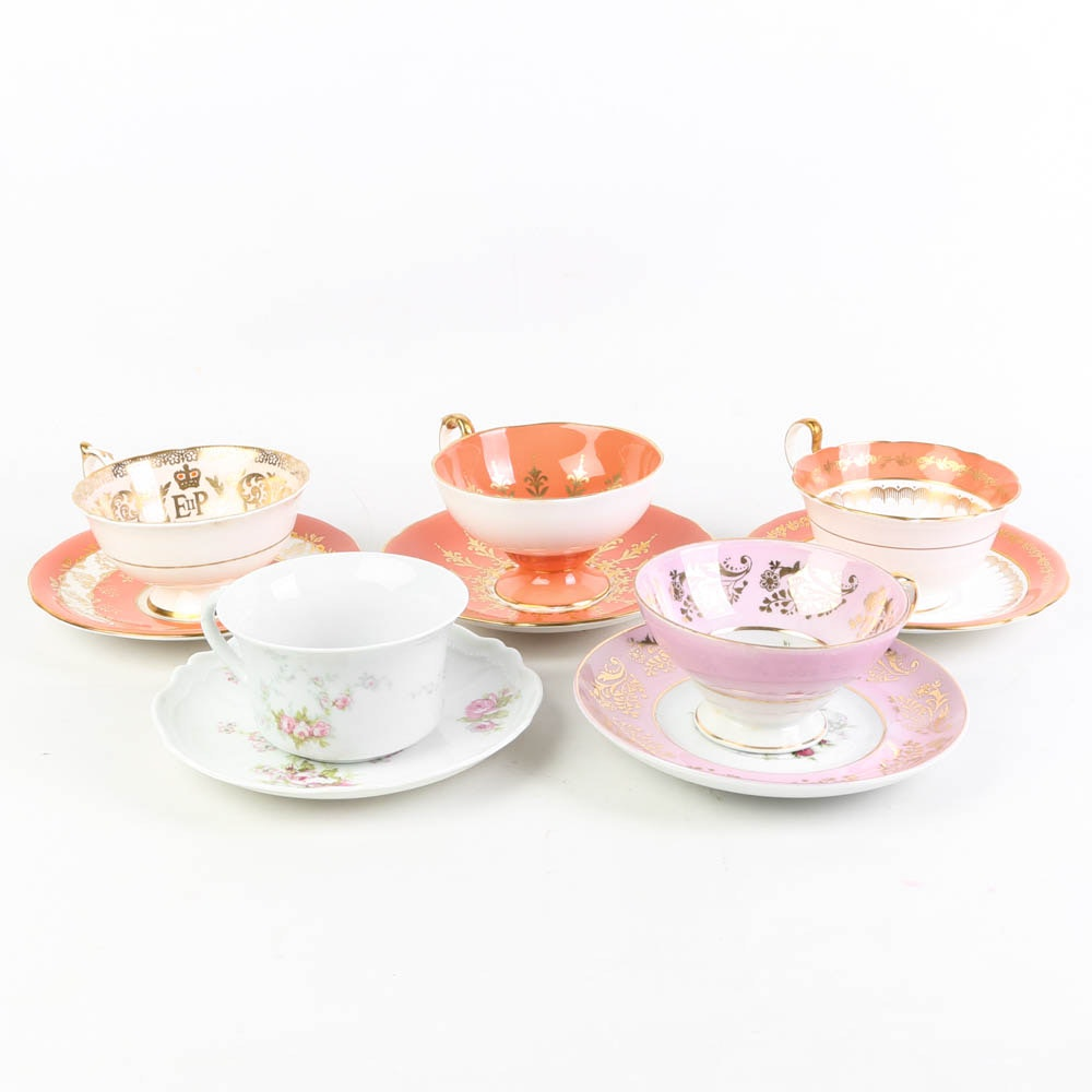 Tea Cup and Saucer Sets Featuring English Bone China