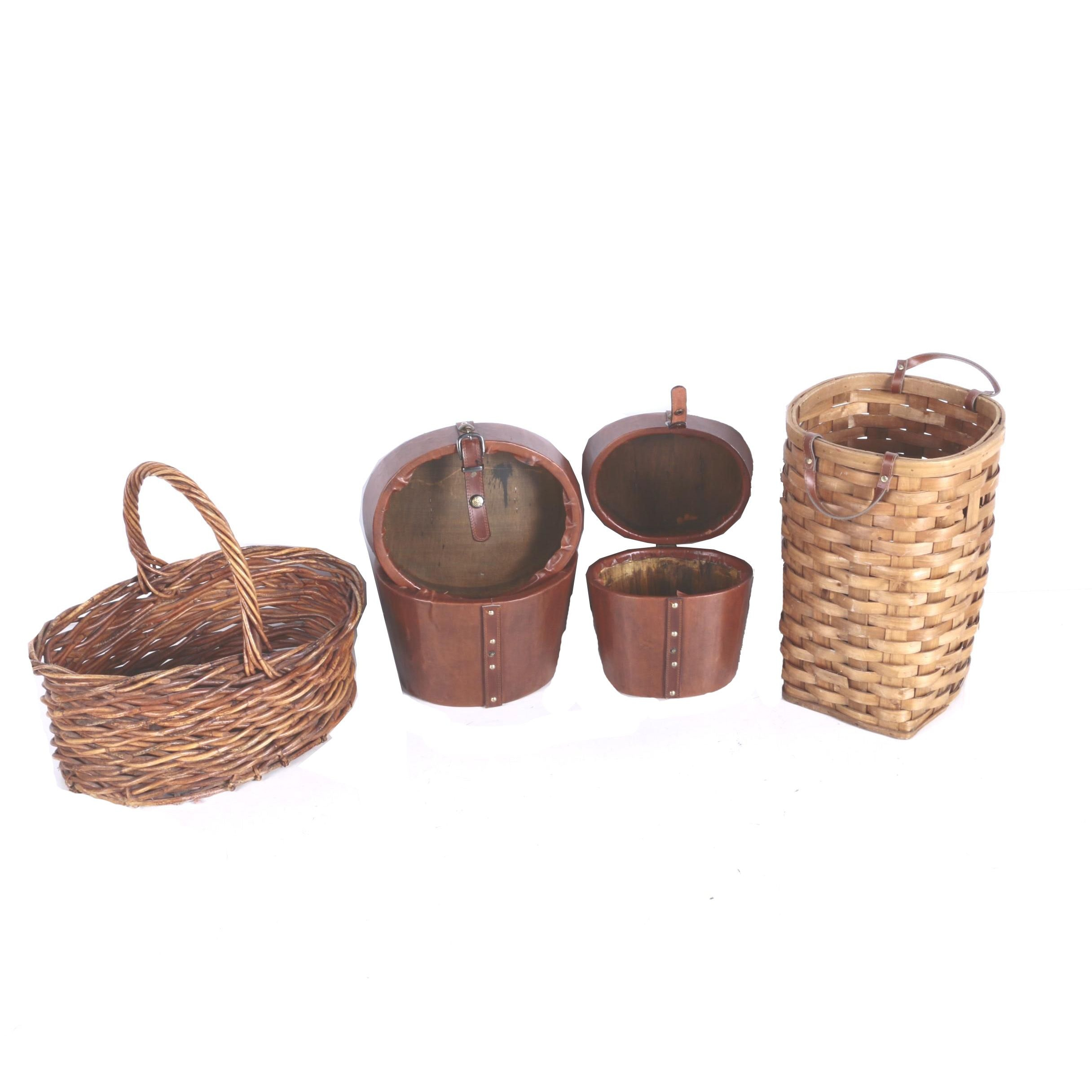 French Open Market Baskets And Lidded Containers