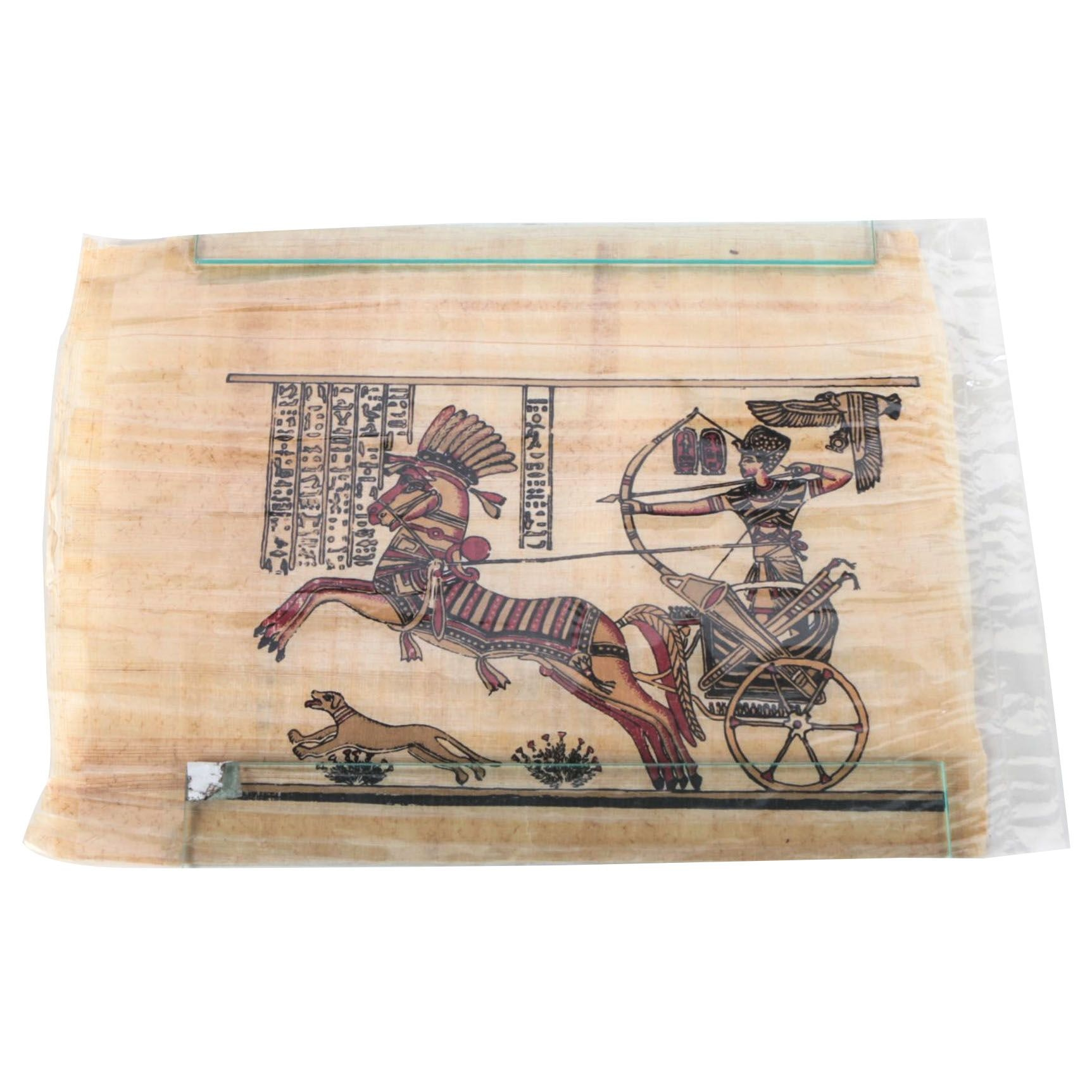 Serigraph on Papyrus of a Chariot Rider