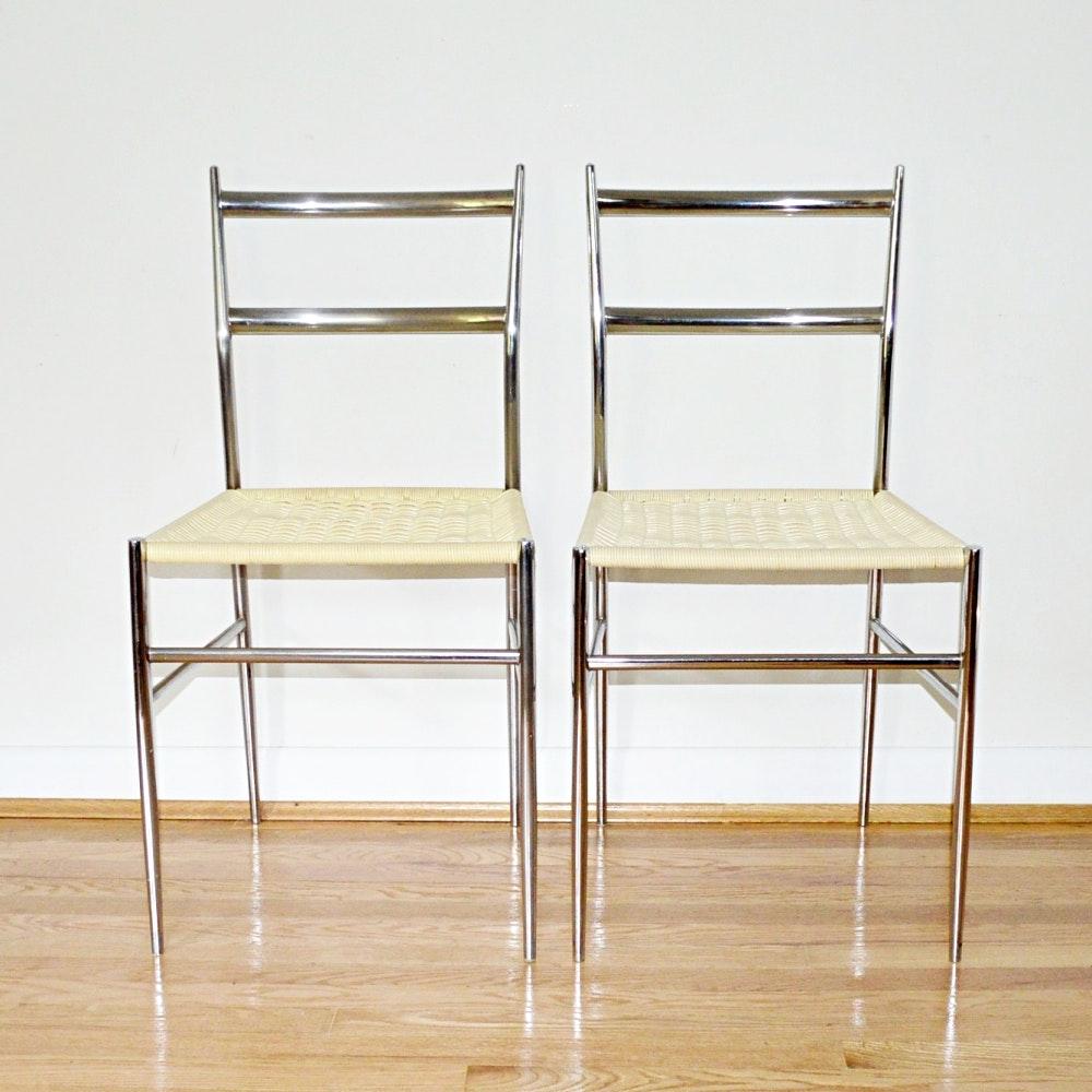 "Modern Gio Ponti ""Superleggera"" Style Chairs"