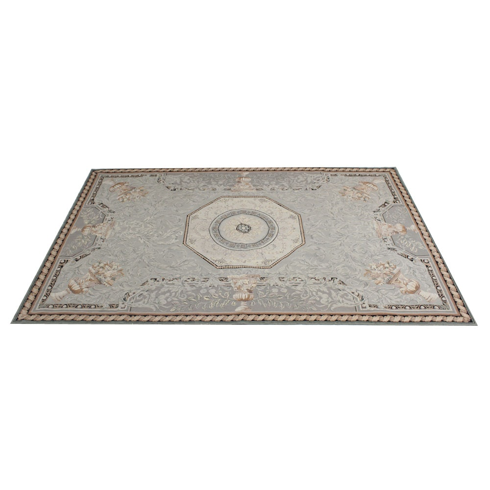 Aubusson Style Chinese  Needlepoint Area Rug