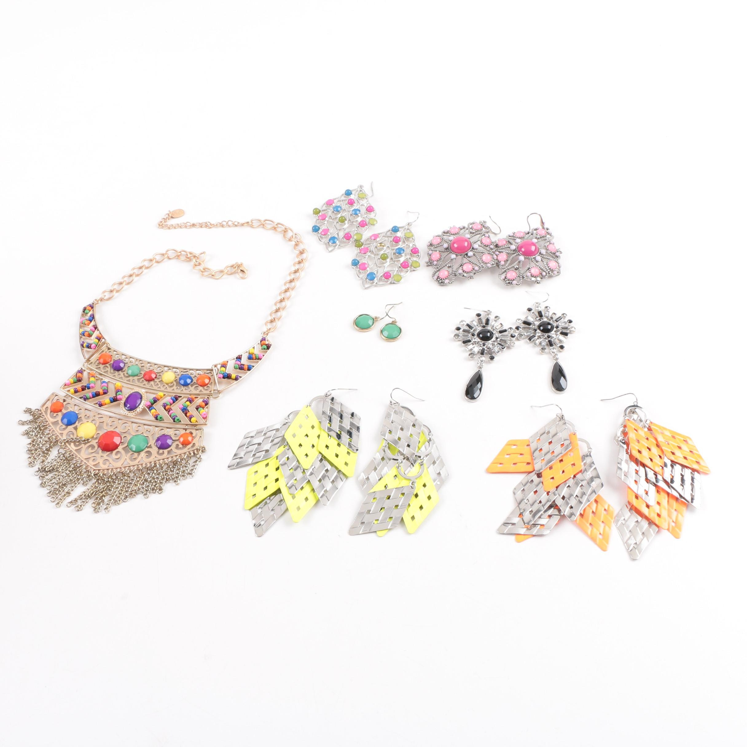 Assortment of Colorful Contemporary Jewelry