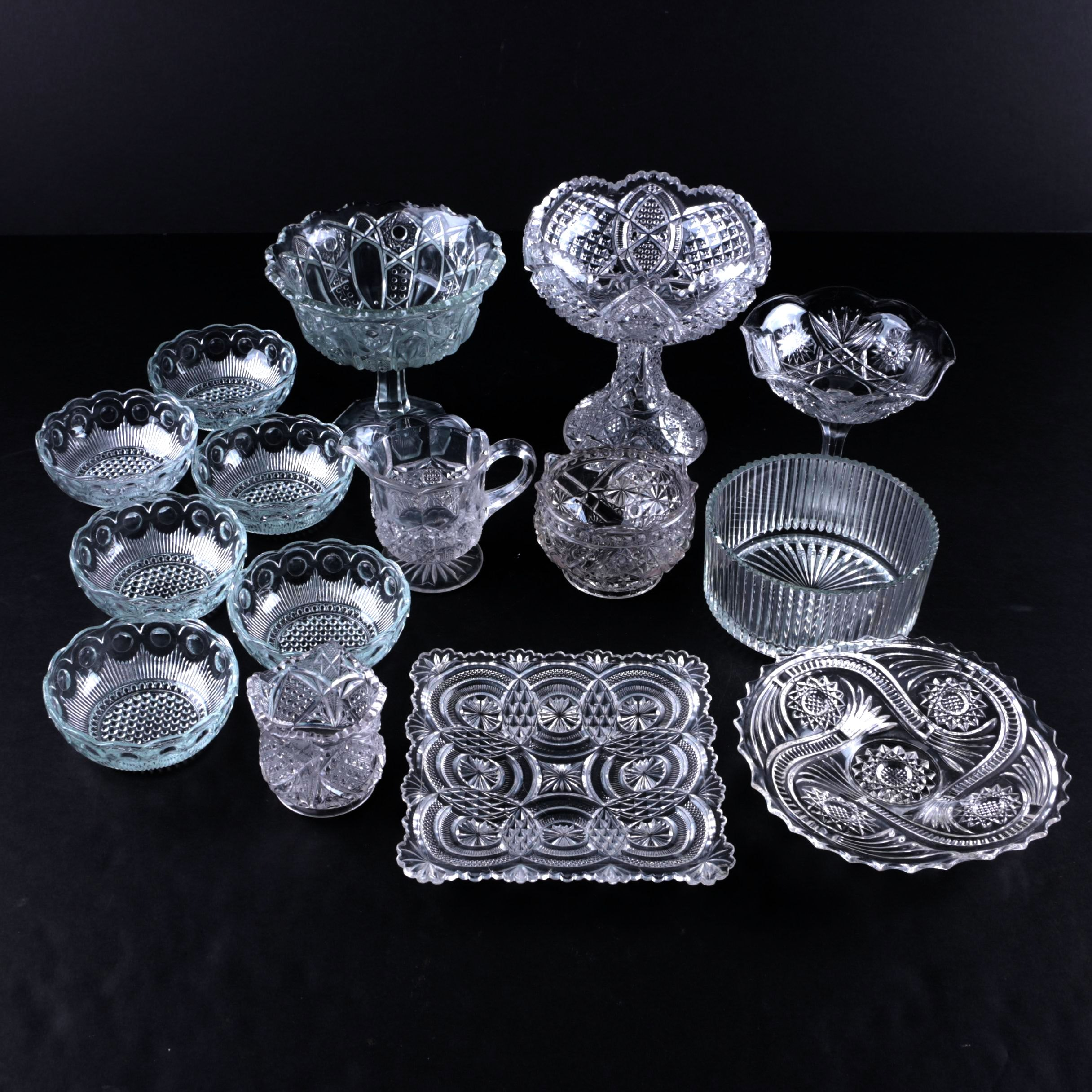 Generous Collection of Glass Serveware