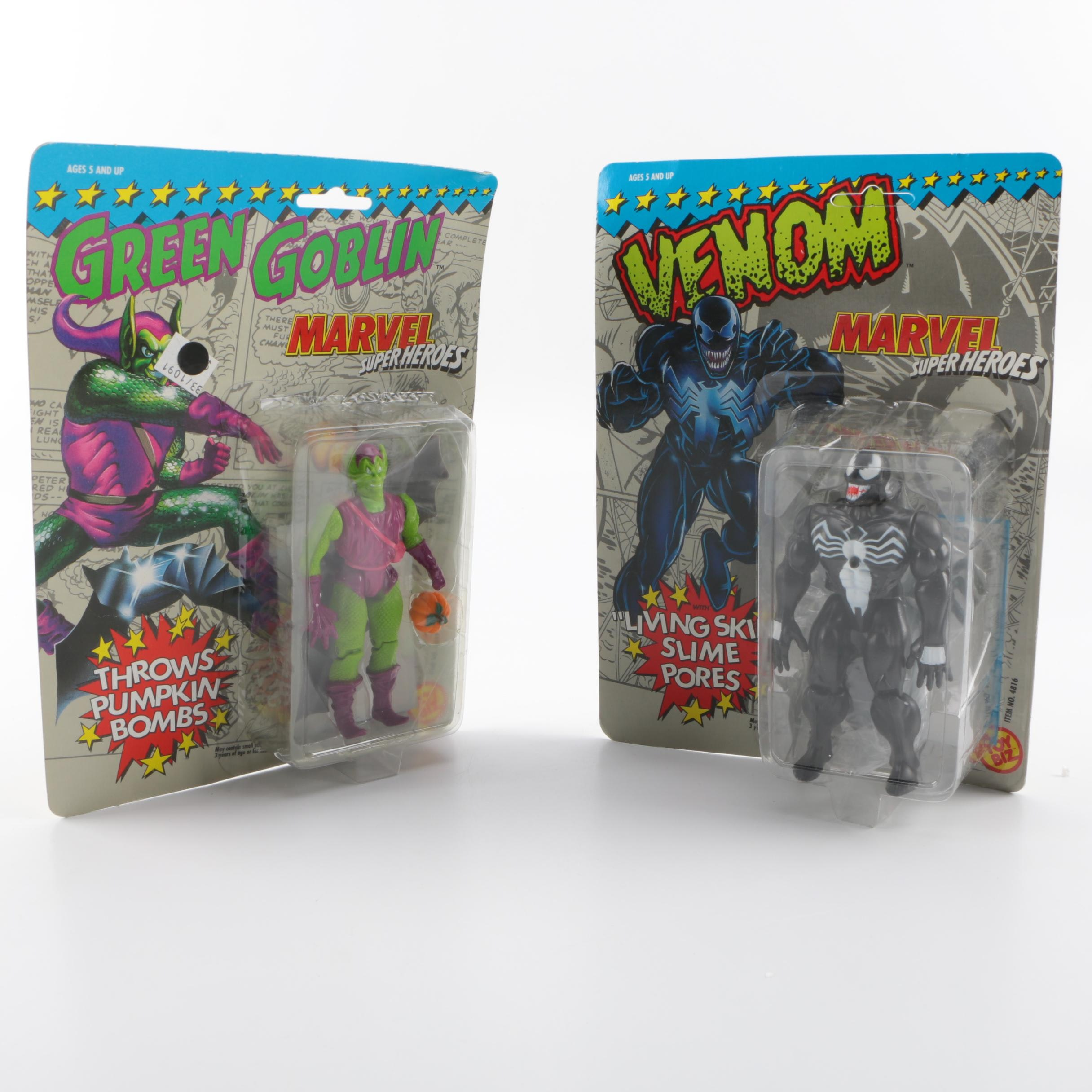 """Marvel Superheroes"" Green Goblin and Venom Action Figures Mint"