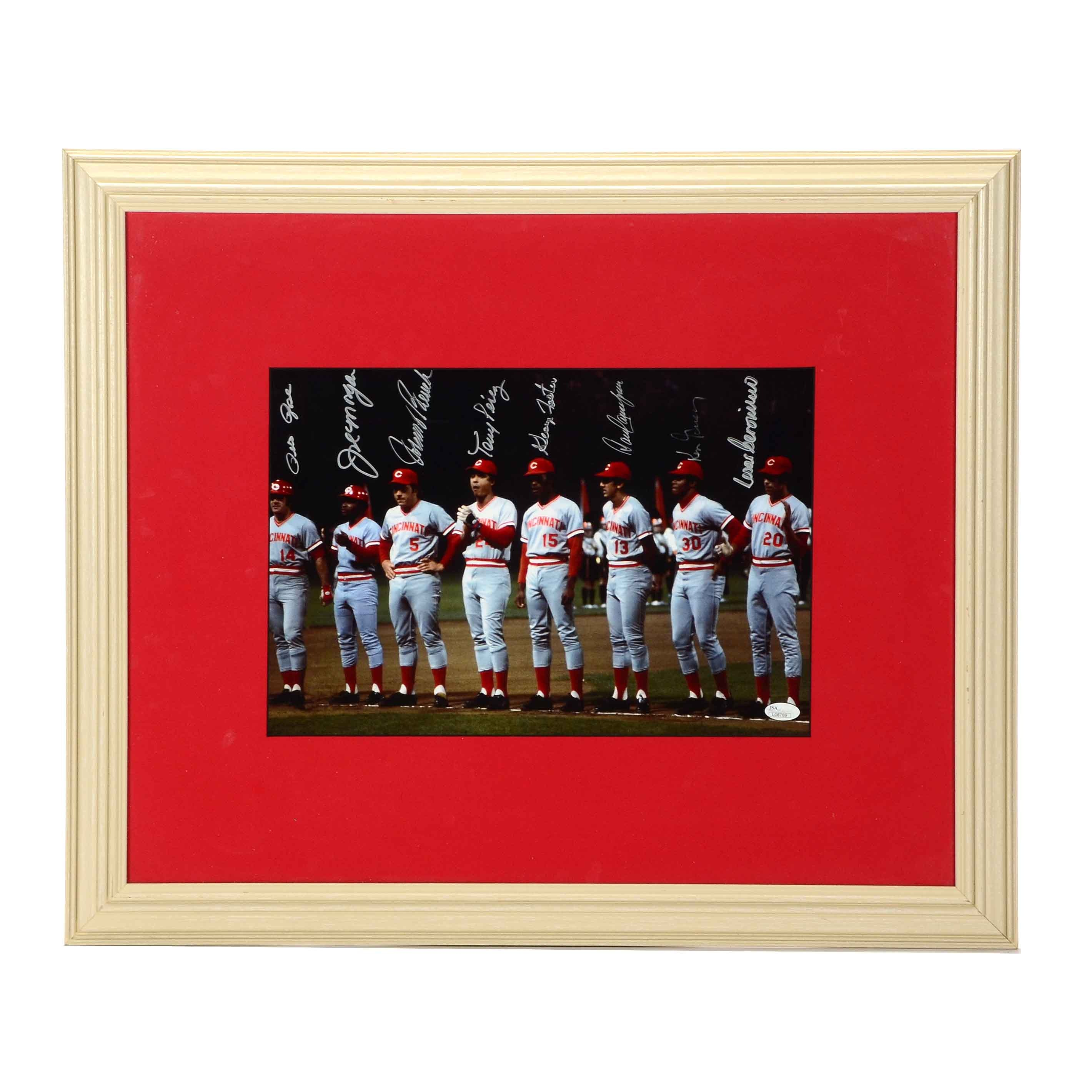"""""""Great Eight"""" Signed 1975-1976 Reds Team Framed Photo"""