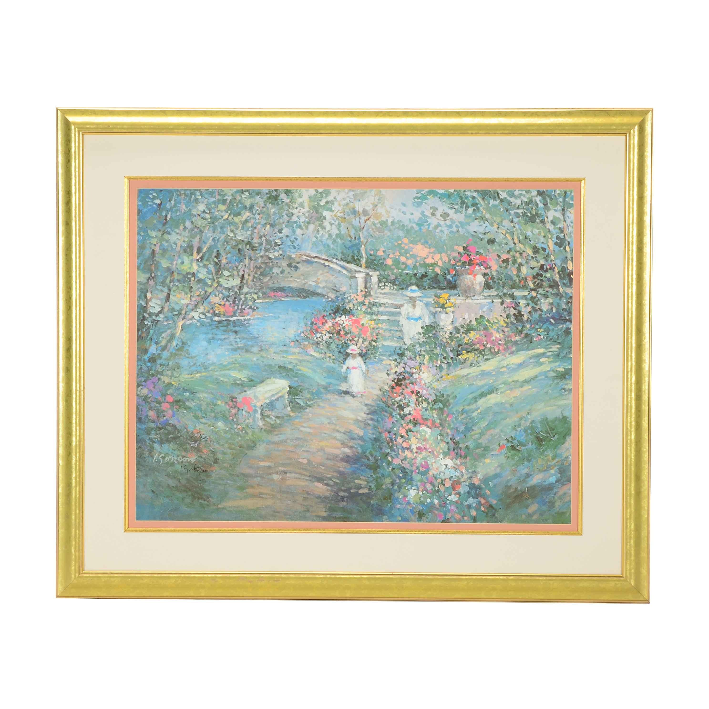 "1993 L. Gordon Signed ""Joy Of Spring"" Matted and Framed Lithograph"