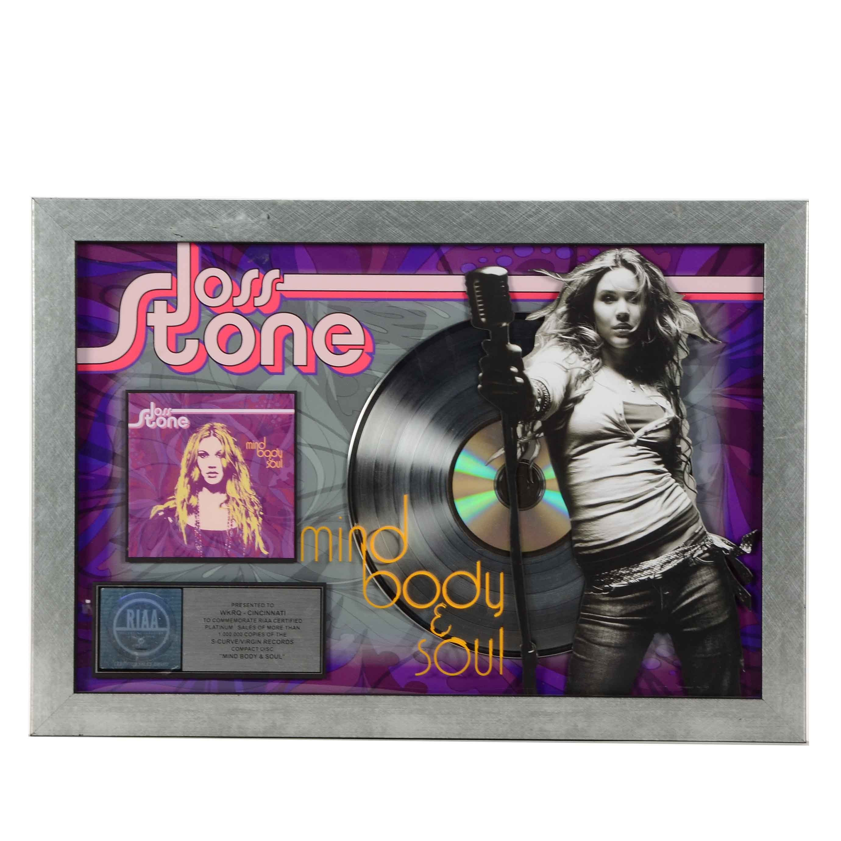 "Joss Stone ""Mind Body & Soul"" Framed Award"