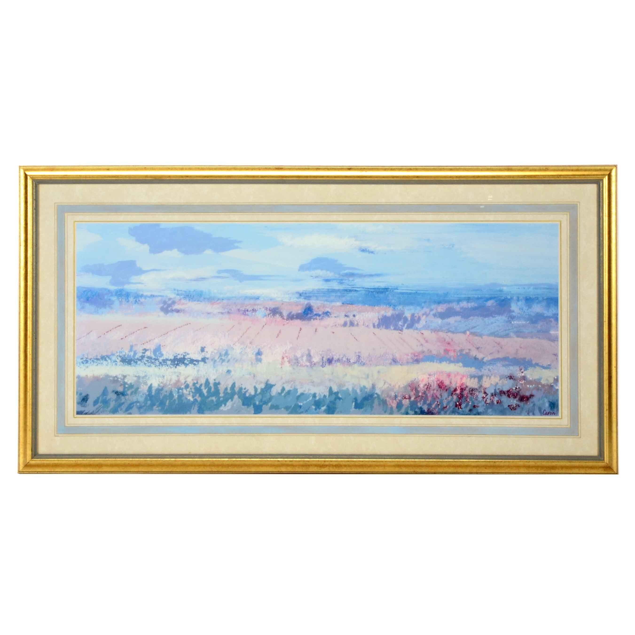 Sidonie Caron Matted and Framed Landscape Print