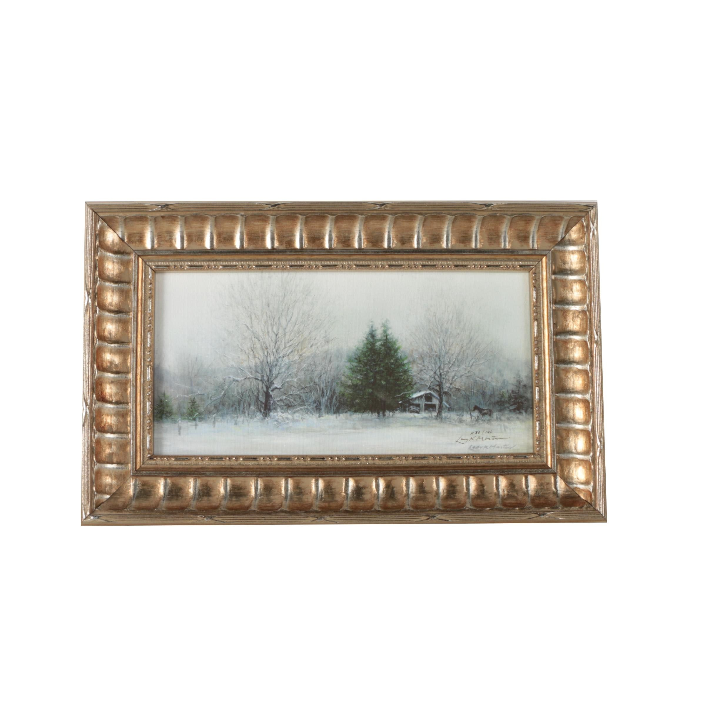 Larry K. Martin Limited Edition Giclee Print of Winter Scene