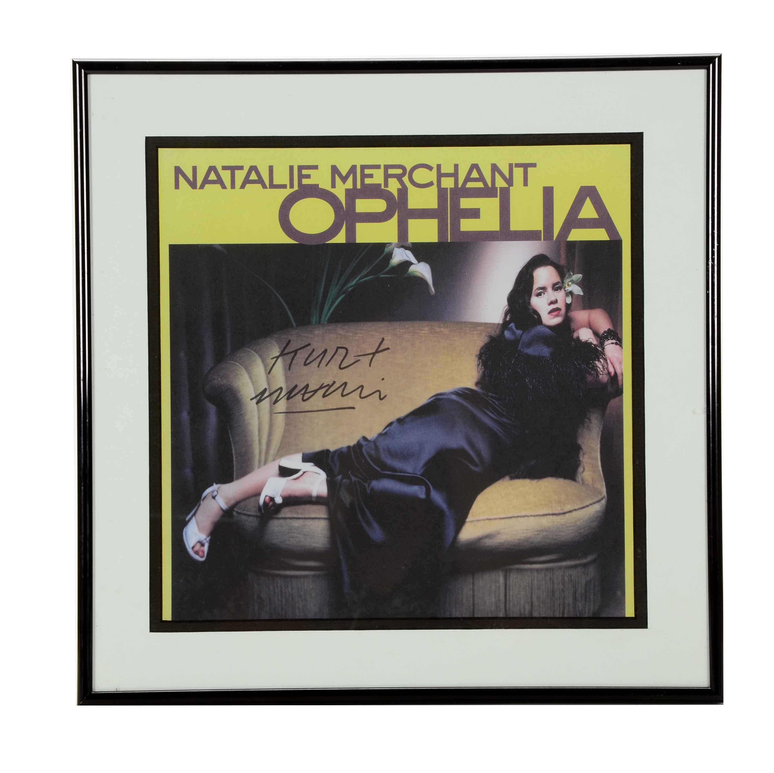 Natalie Merchant Signed Cover