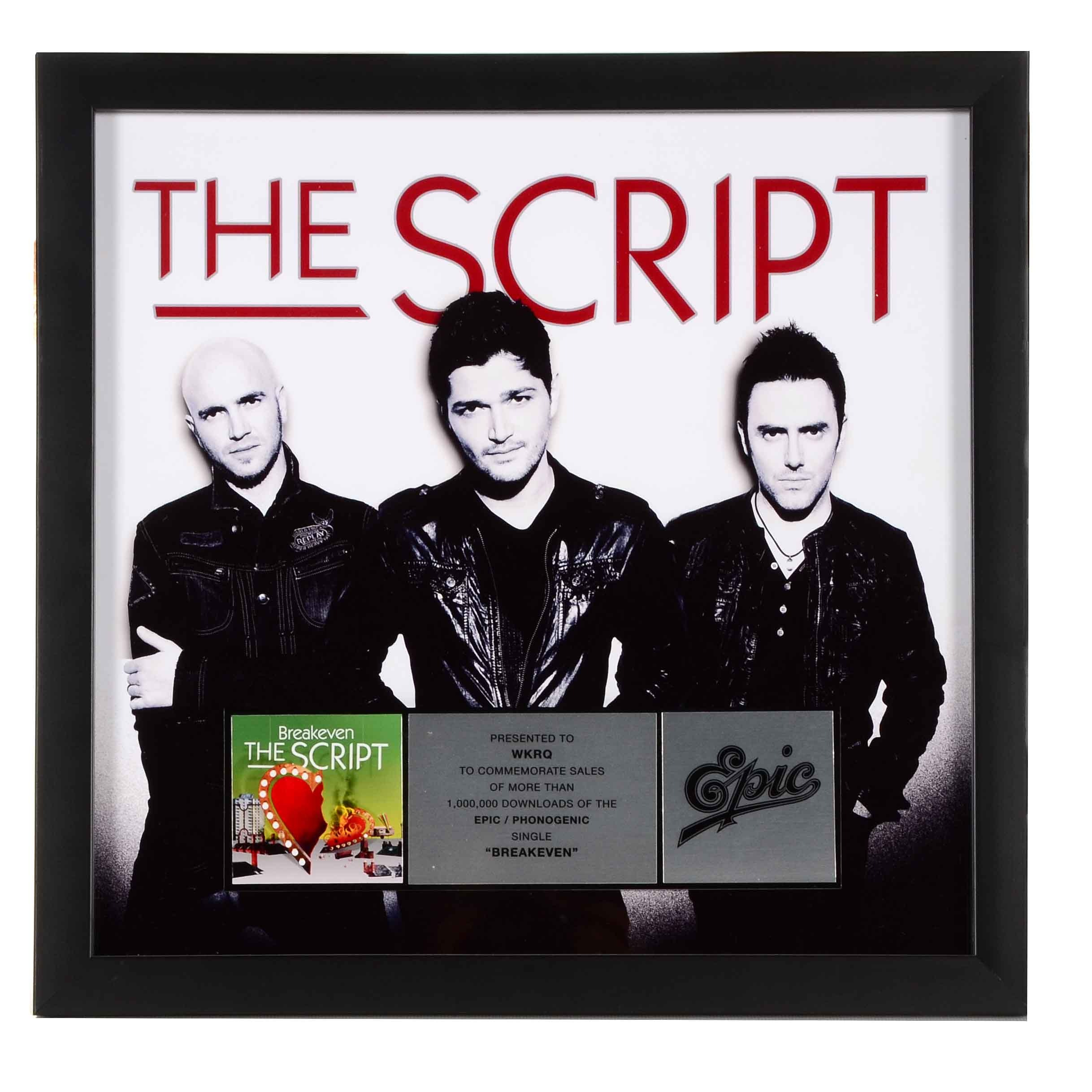 The Script Q102 Award Display